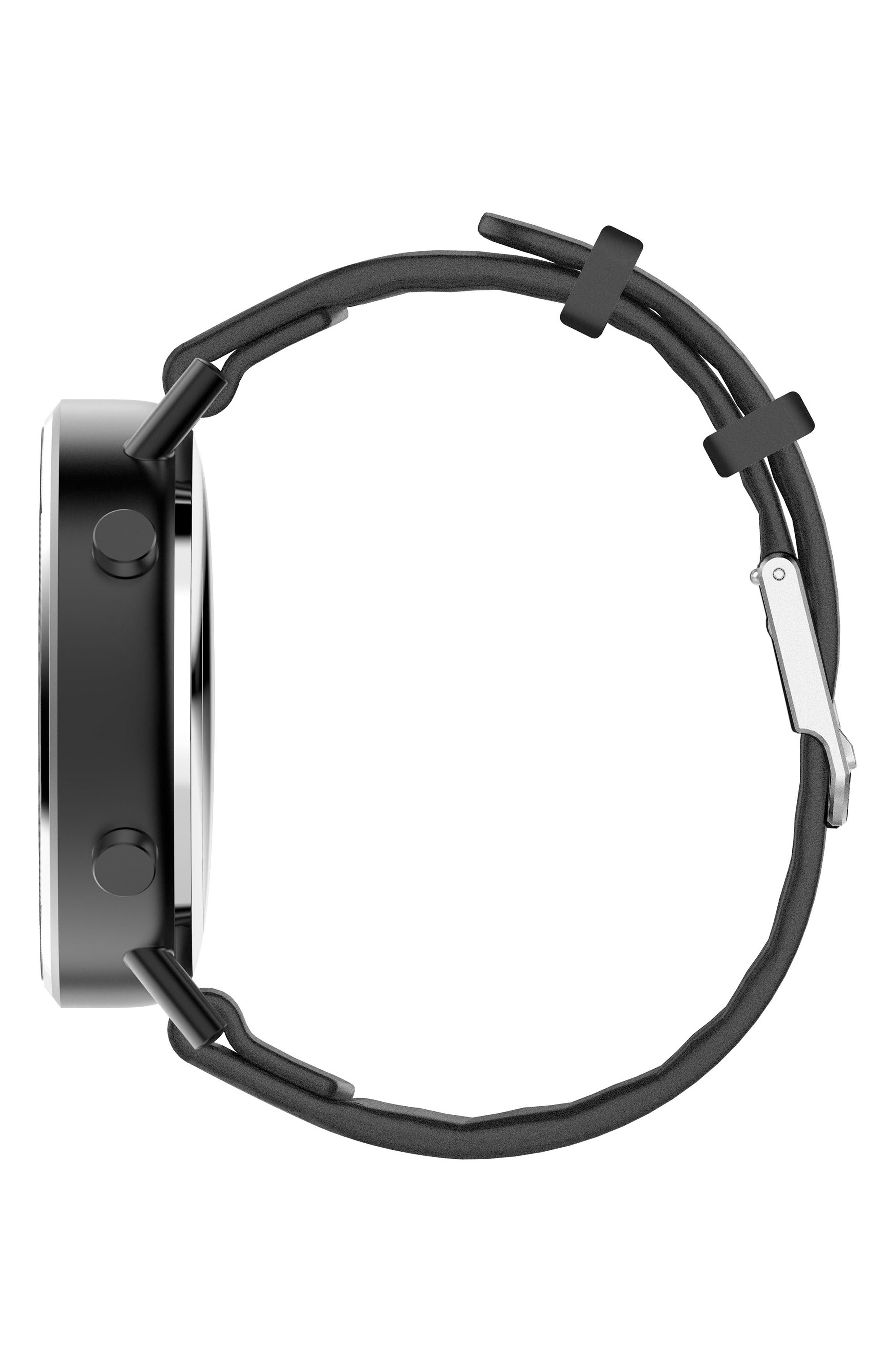 Command Hybrid Silicone Strap Smart Watch, 44mm,                             Alternate thumbnail 3, color,                             009