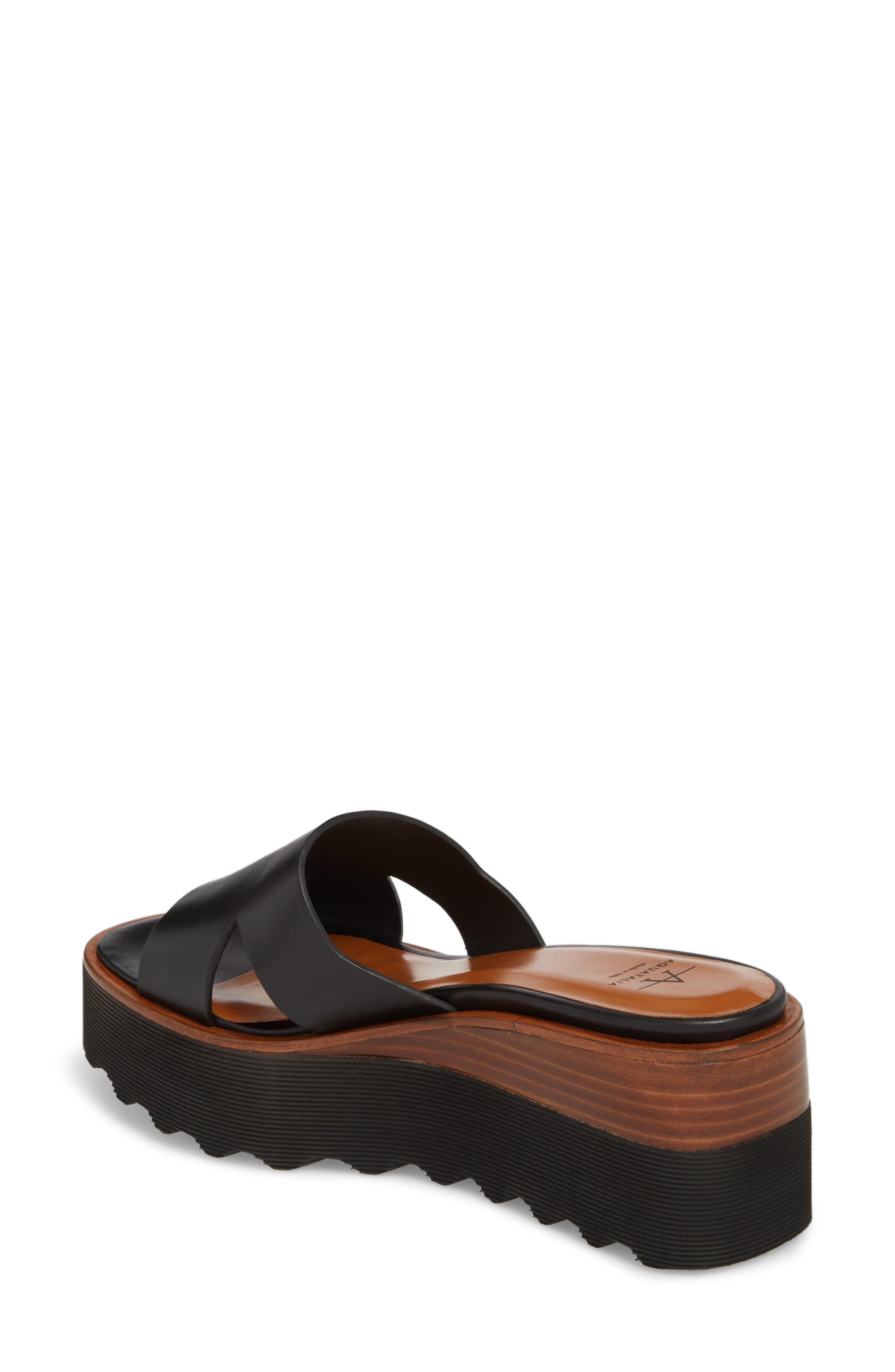 Tayla Platform Wedge Sandal,                             Alternate thumbnail 2, color,                             001