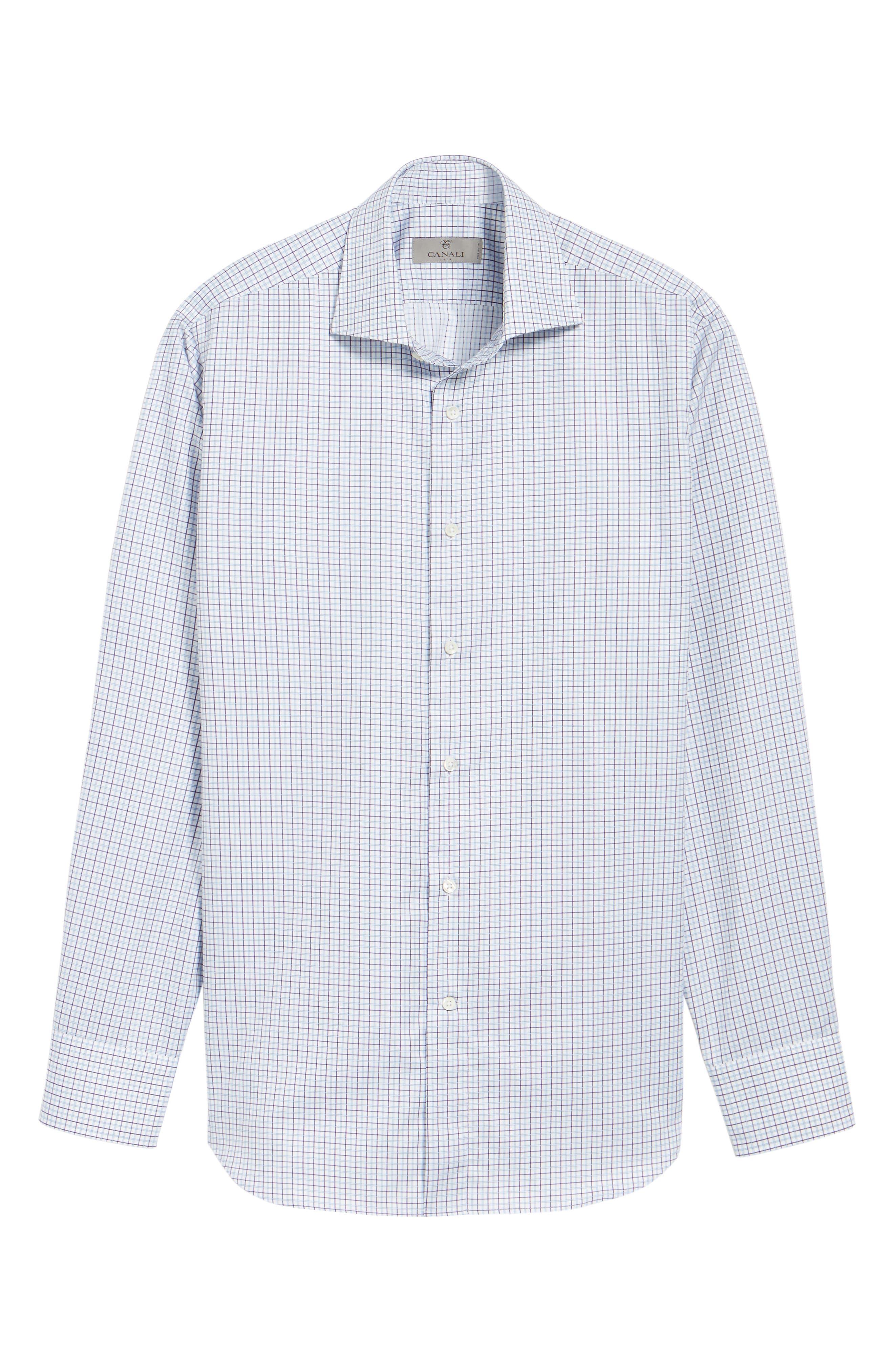 Regular Fit Check Dress Shirt,                             Alternate thumbnail 3, color,                             540