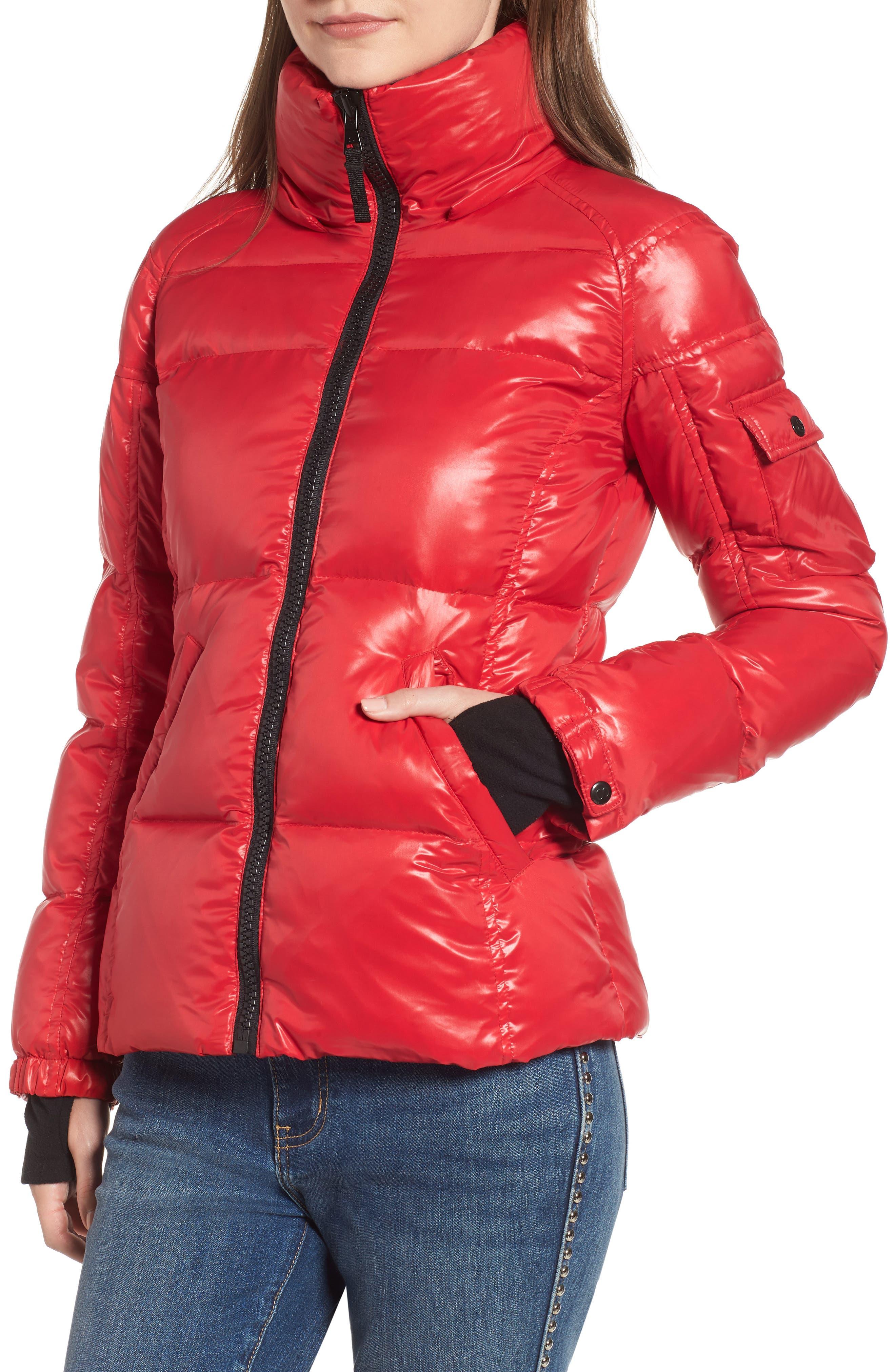 Kylie Faux Fur Trim Gloss Puffer Jacket,                             Alternate thumbnail 22, color,