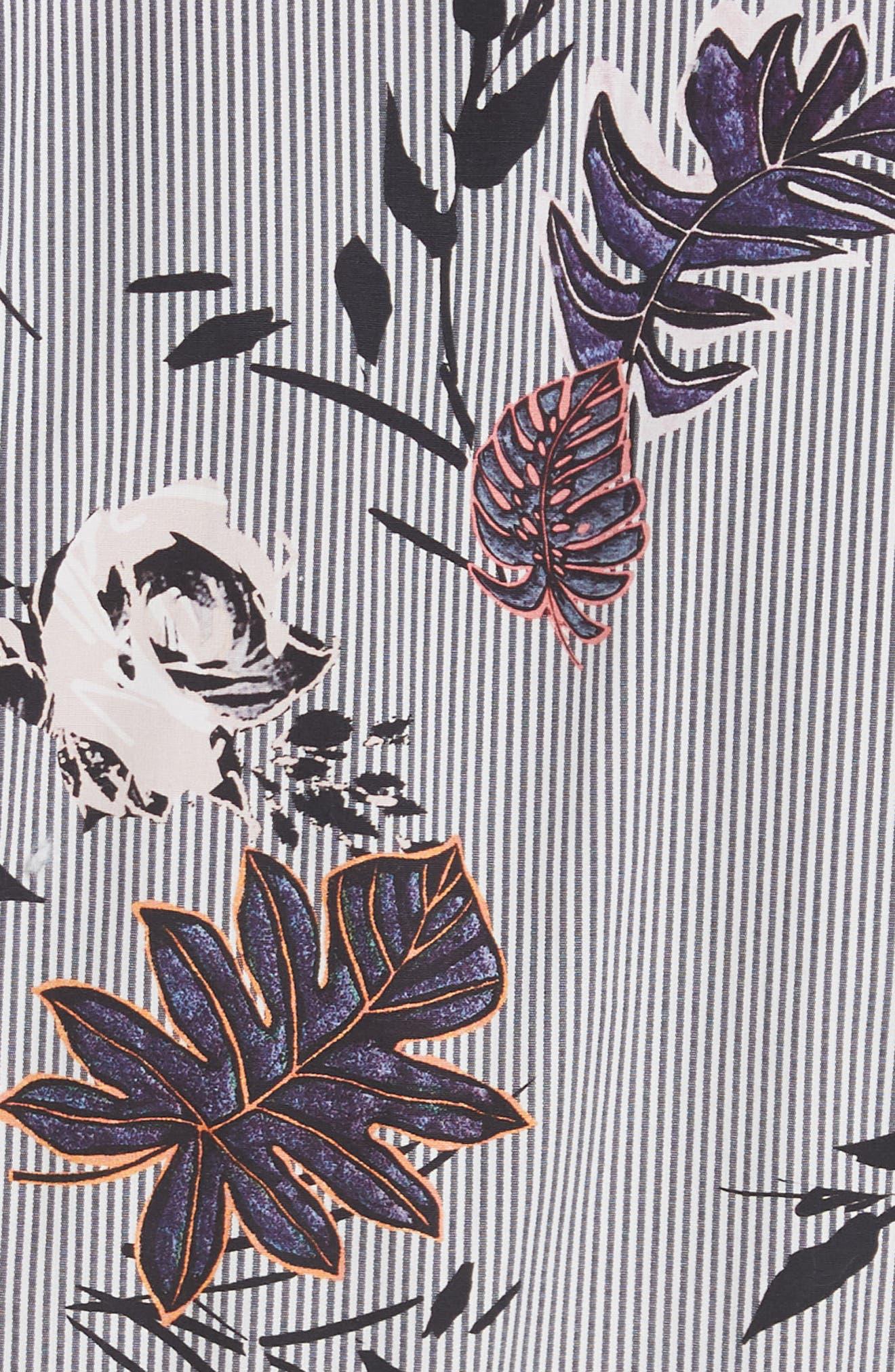 LAFAYETTE 148 NEW YORK,                             Eleni Floral Stripe Shirtdress,                             Alternate thumbnail 6, color,                             INK MULTI