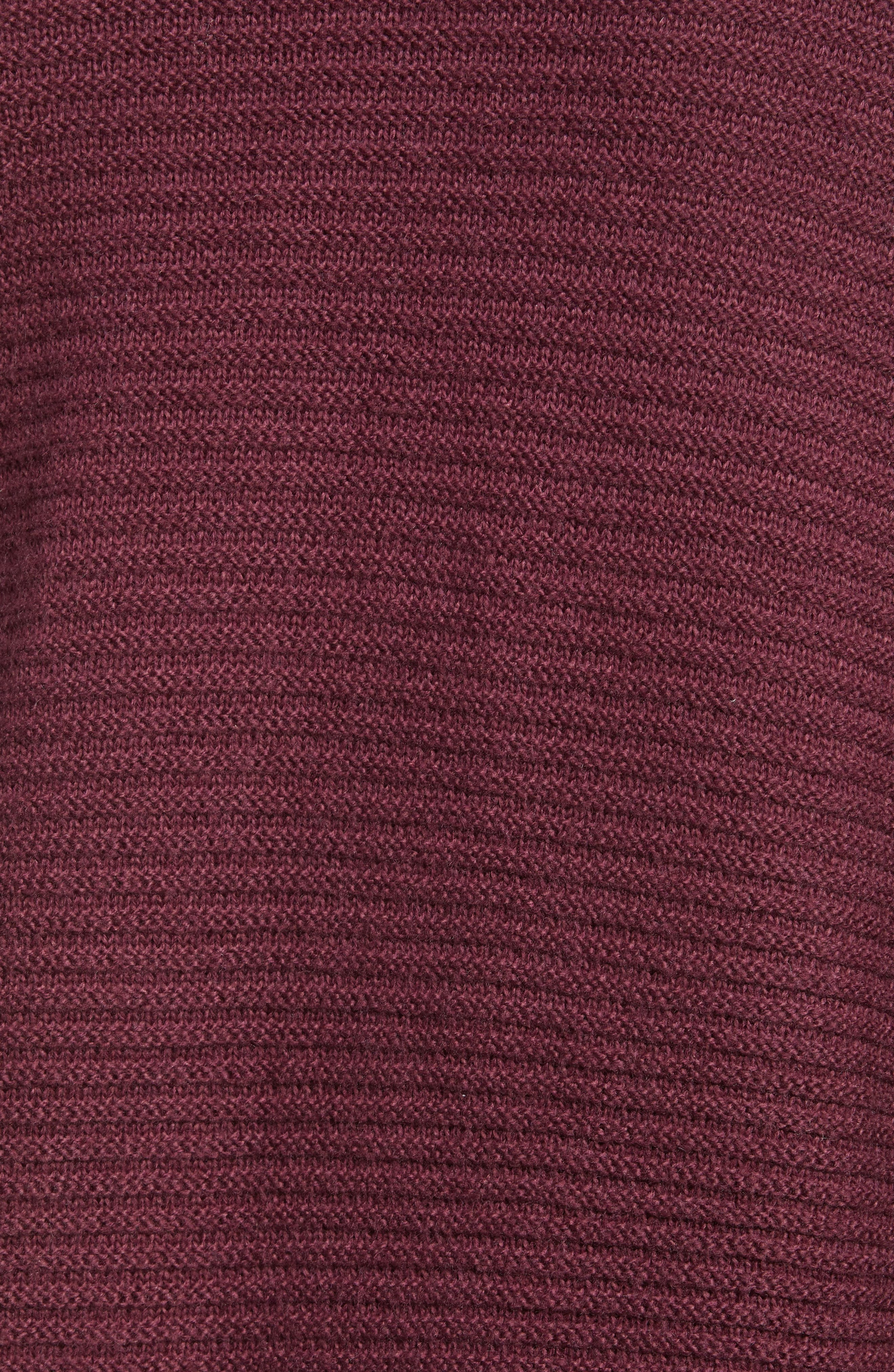 Ribbed Turtleneck Tunic Sweater,                             Alternate thumbnail 6, color,                             930