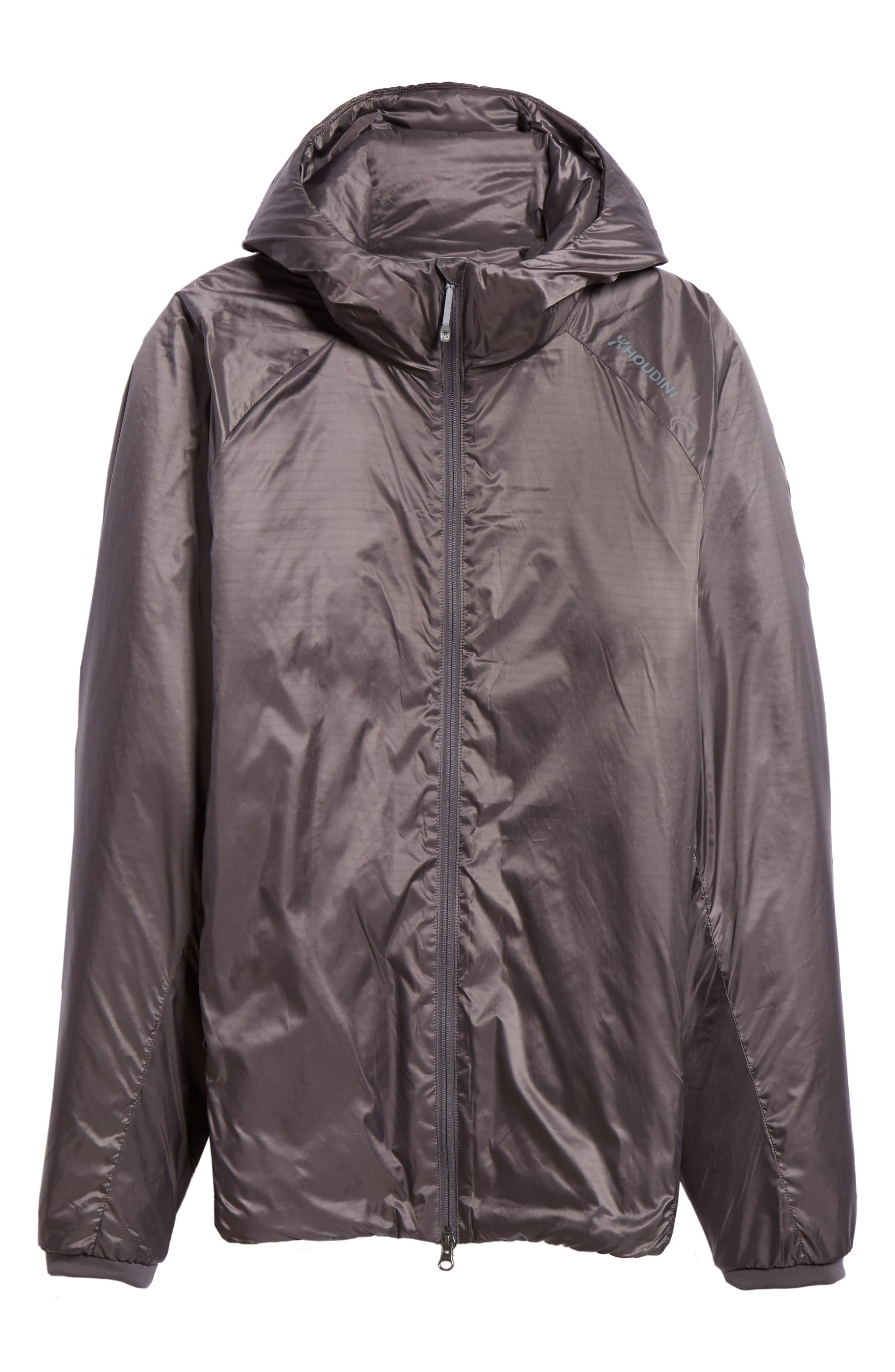 Houdini Mr. Dunfri Full Zip Hooded Jacket, Grey