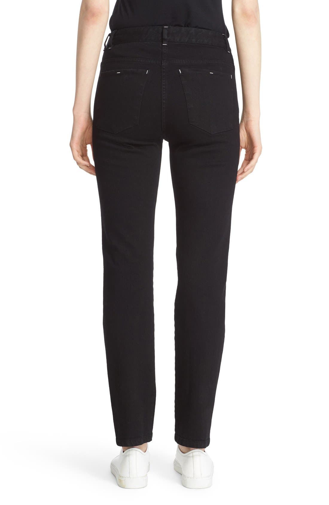 Stovepipe Stretch Jeans,                             Alternate thumbnail 2, color,                             001