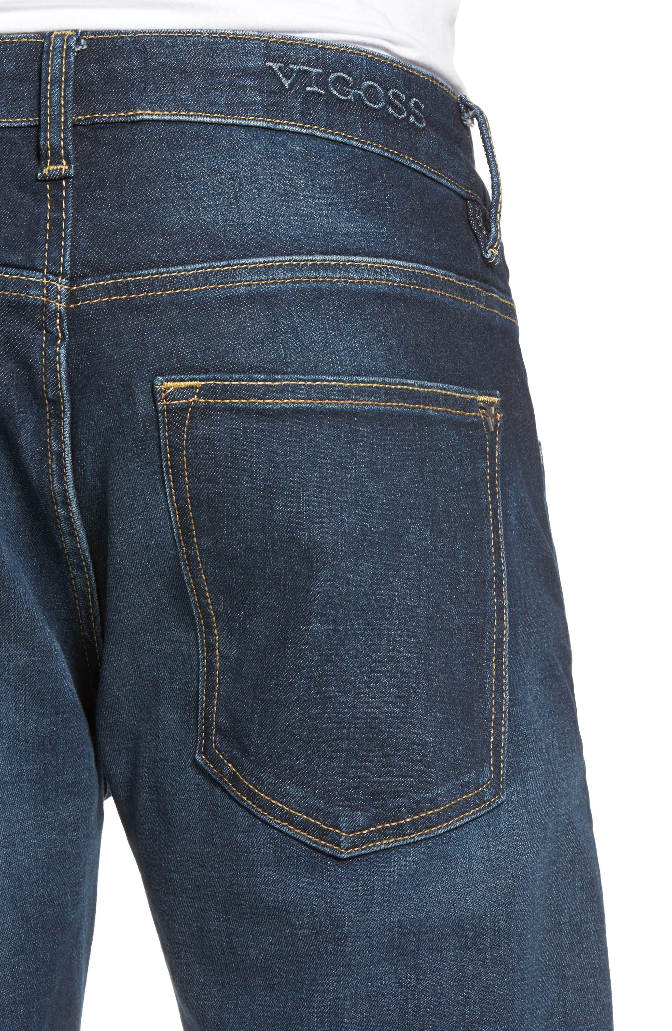 Slim Straight Leg Jeans,                             Alternate thumbnail 4, color,                             400