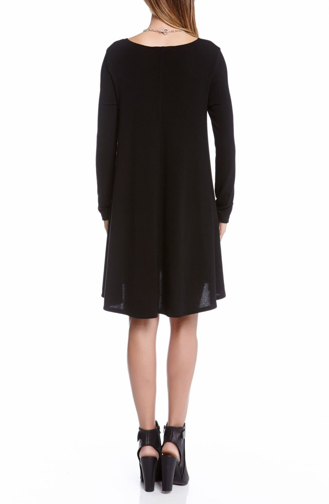 'Maggie' Trapeze Sweater Dress,                             Alternate thumbnail 2, color,                             001