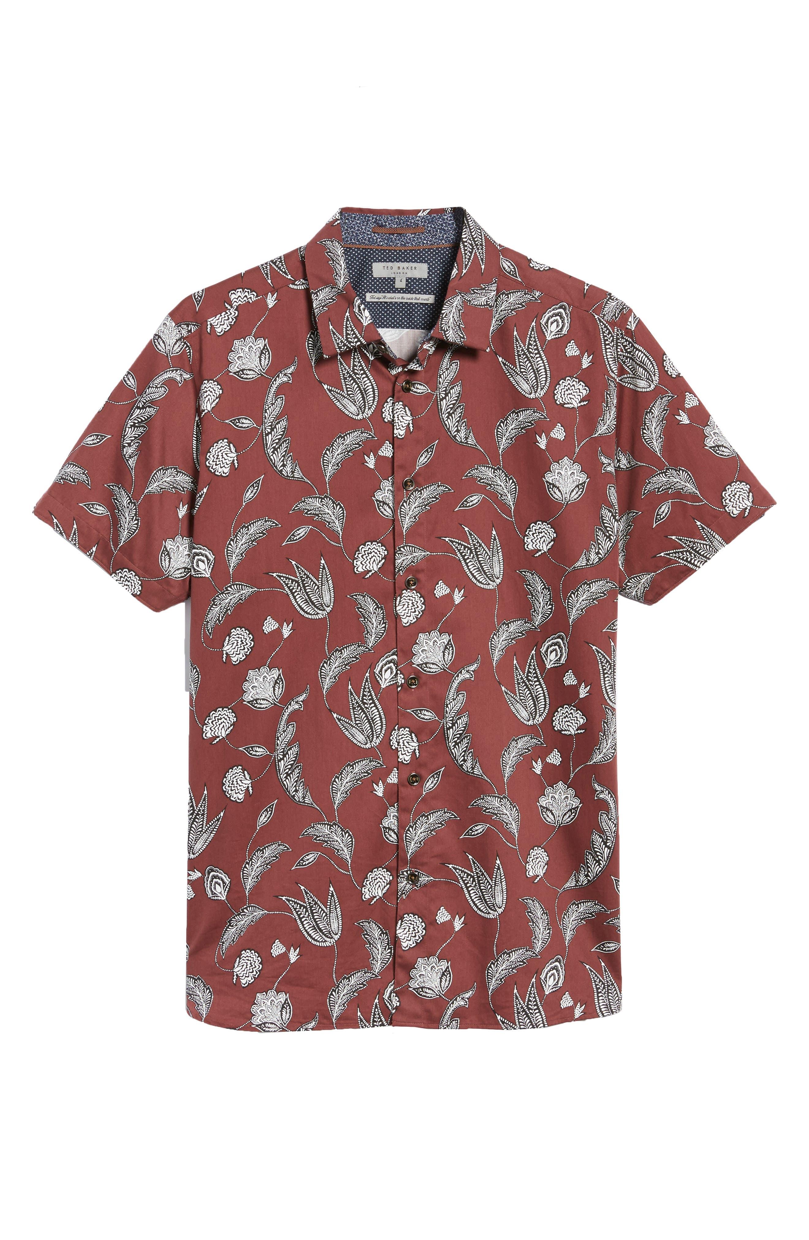 UTKU Floral Sport Shirt,                             Alternate thumbnail 12, color,