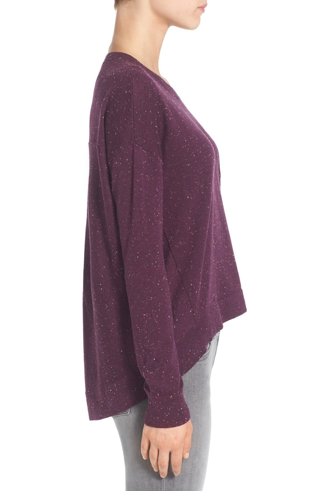 Pleat Back High/Low Crewneck Sweater,                             Alternate thumbnail 13, color,