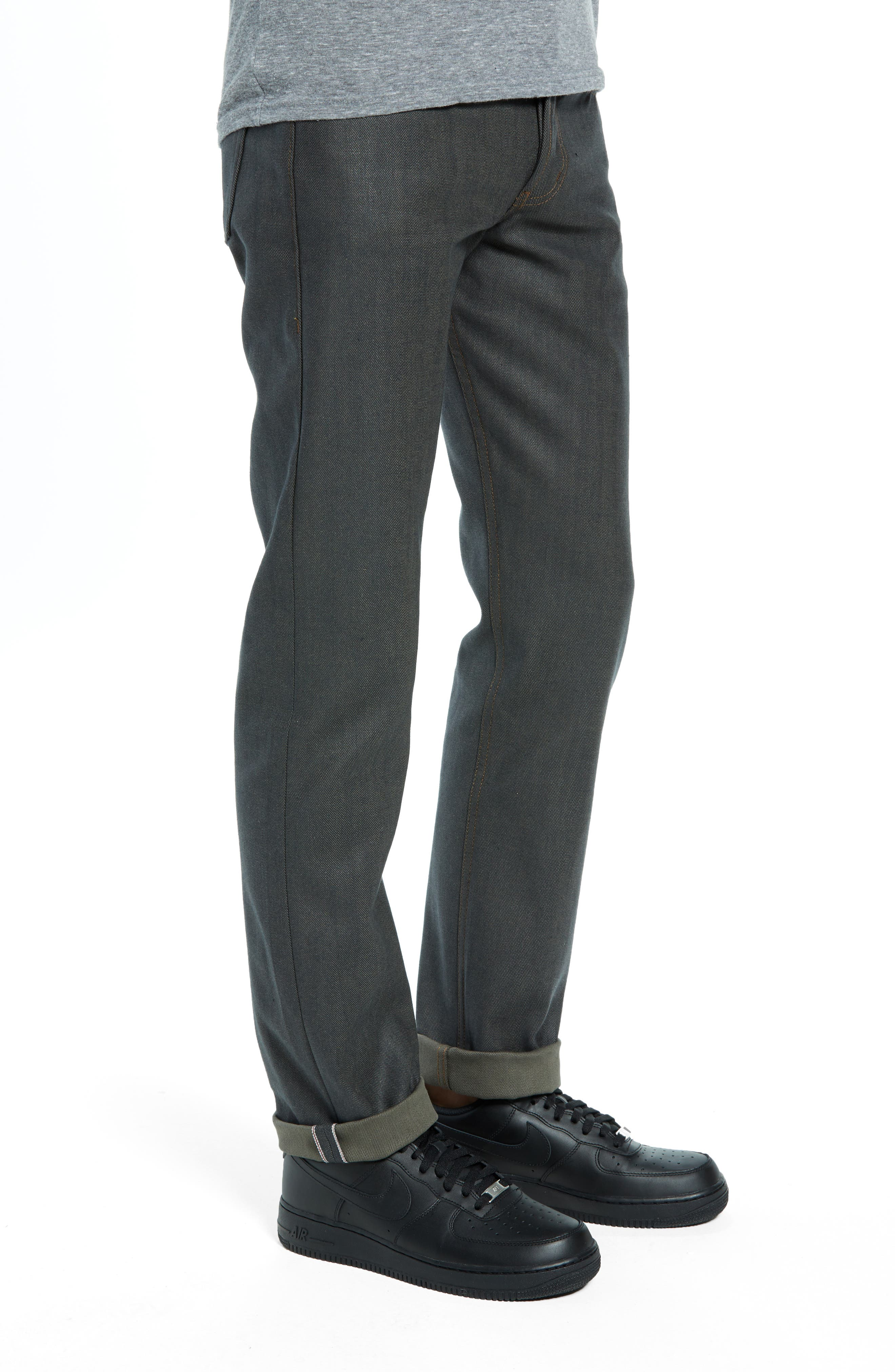 Weird Guy Slim Fit Jeans,                             Alternate thumbnail 3, color,                             HUNTER STRETCH SELVEDGE