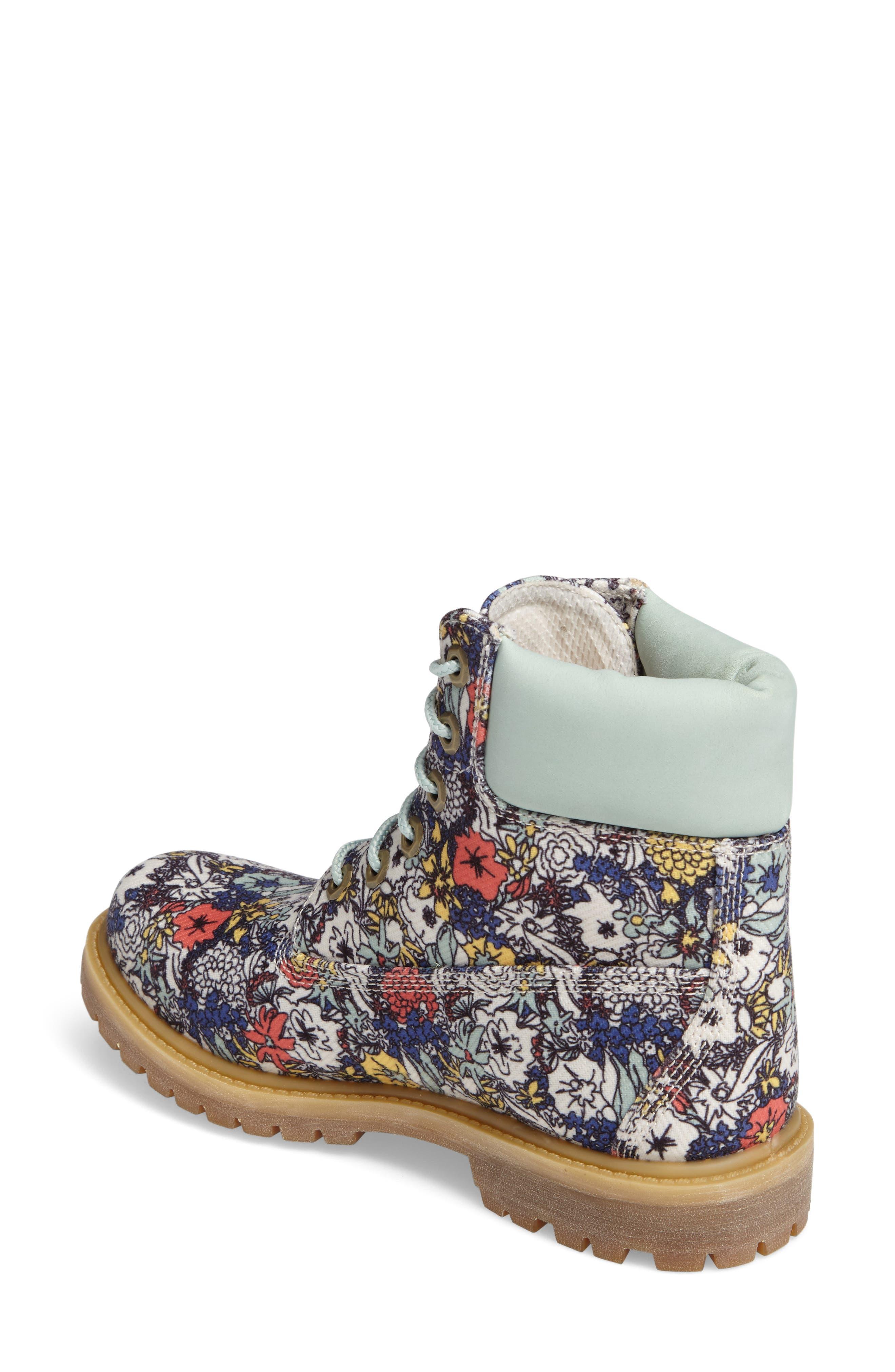 6 Inch Premium Floral Print Boot,                             Alternate thumbnail 2, color,                             400