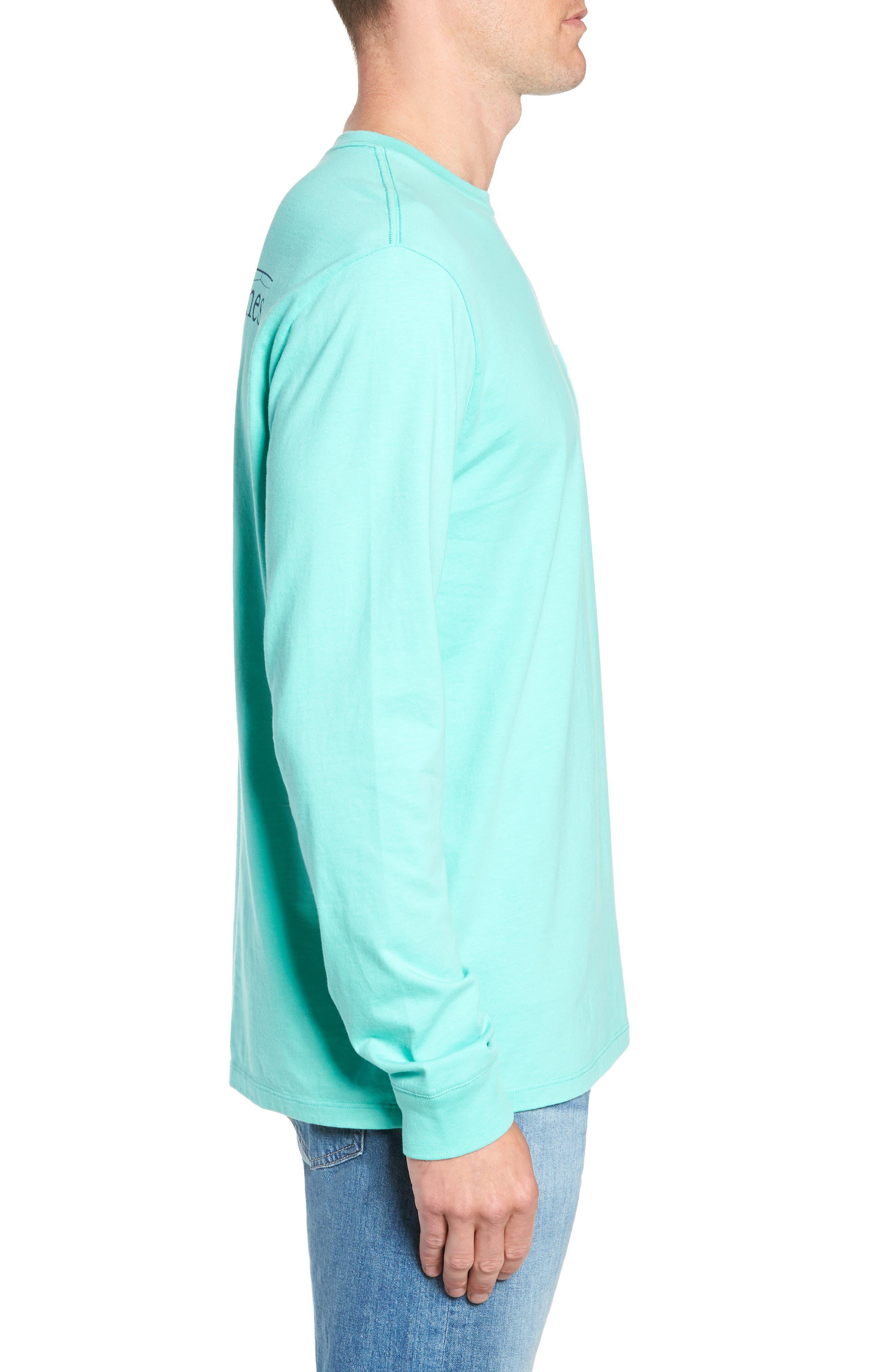Fishing Rod Pocket T-Shirt,                             Alternate thumbnail 3, color,                             CAPRI BLUE