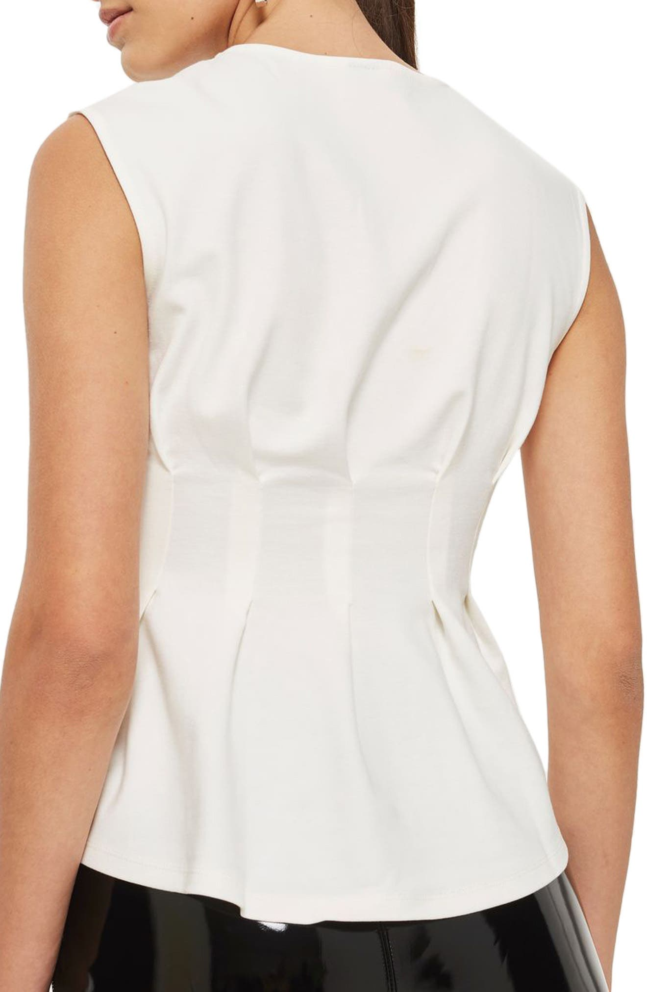 Cinched Waist Sleeveless Blouse,                             Alternate thumbnail 2, color,                             900