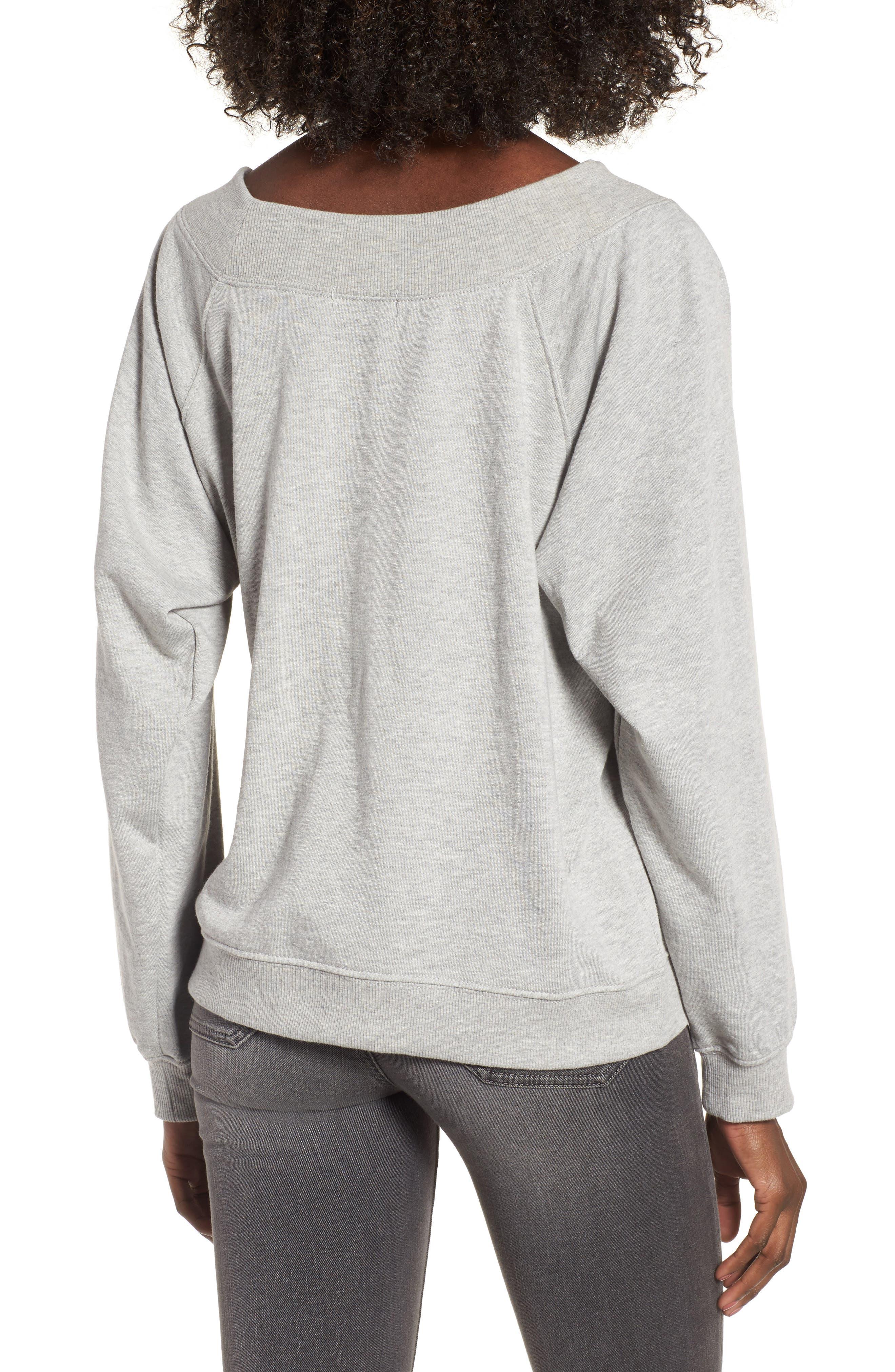 Embellished Off the Shoulder Sweatshirt,                             Alternate thumbnail 2, color,                             020