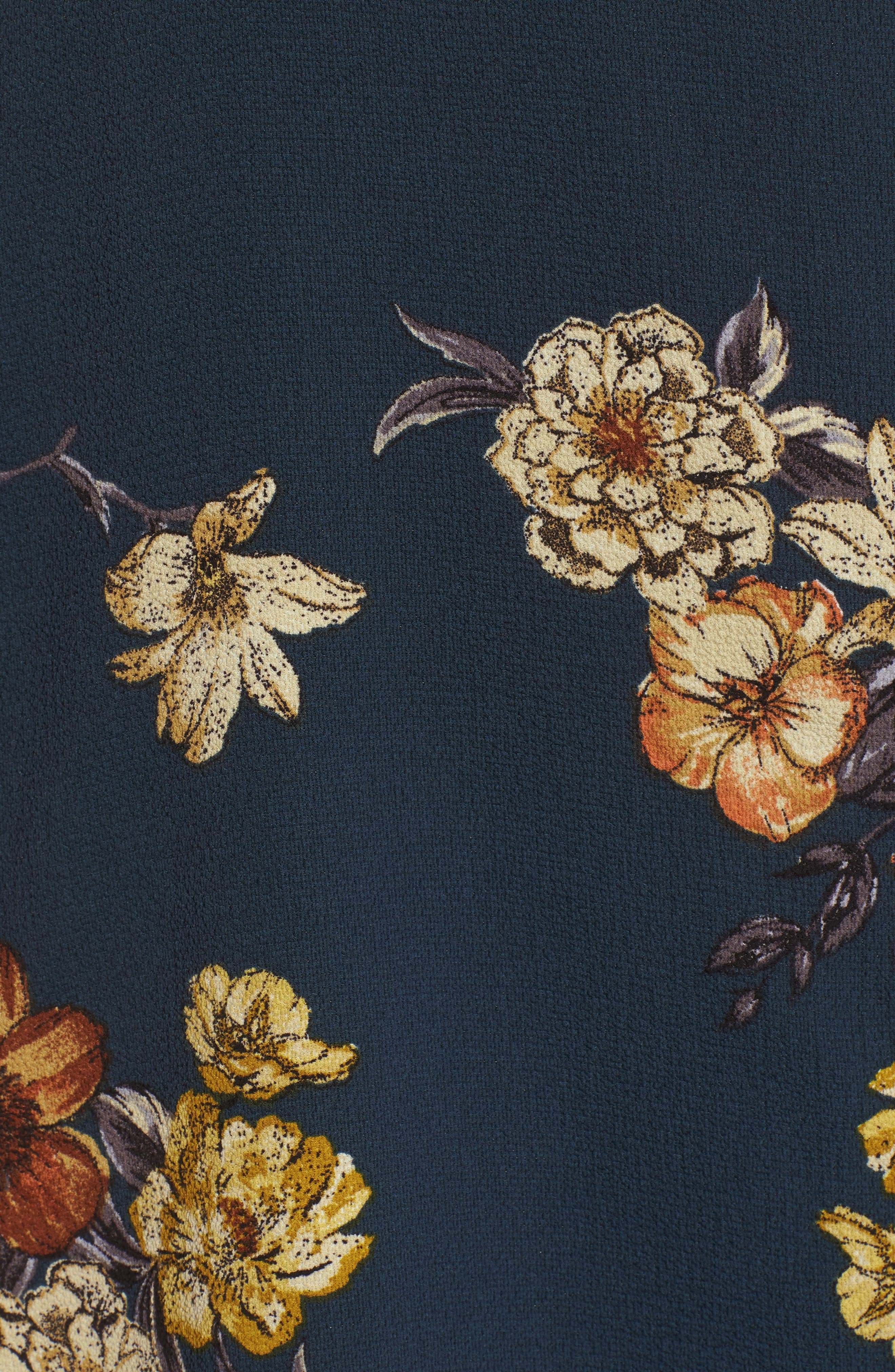 LEITH,                             Floral Wrap Dress,                             Alternate thumbnail 6, color,                             410