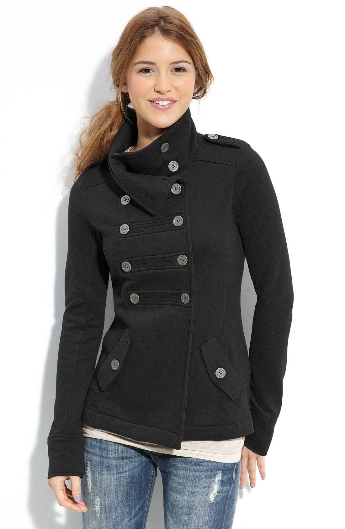 Rubbish Military Knit Jacket,                         Main,                         color, 001