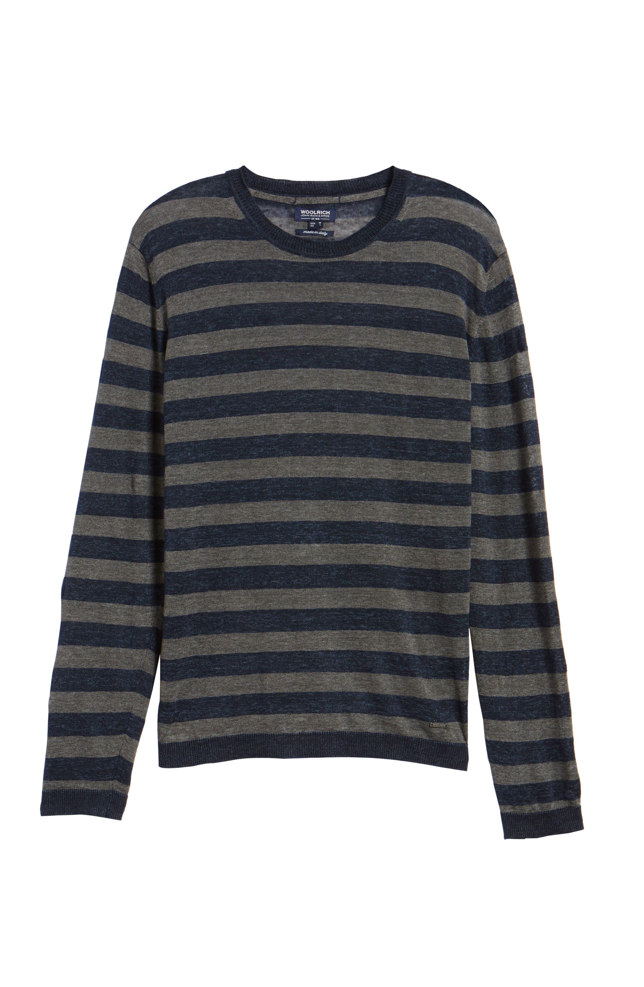 & Bros. Stripe Linen Sweater,                             Alternate thumbnail 6, color,