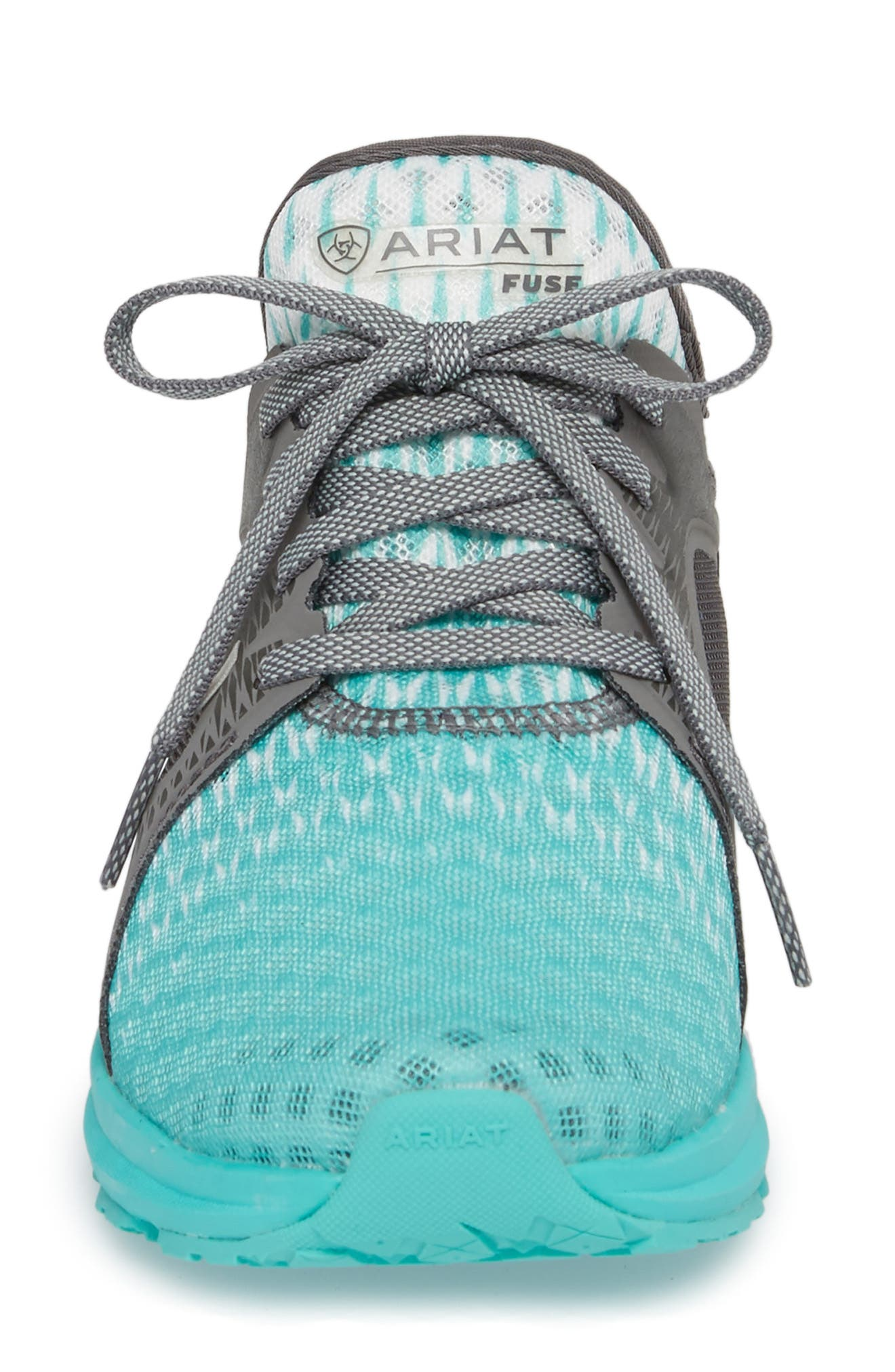 Fuse Ombré Sneaker,                             Alternate thumbnail 4, color,                             TURQUOISE MESH