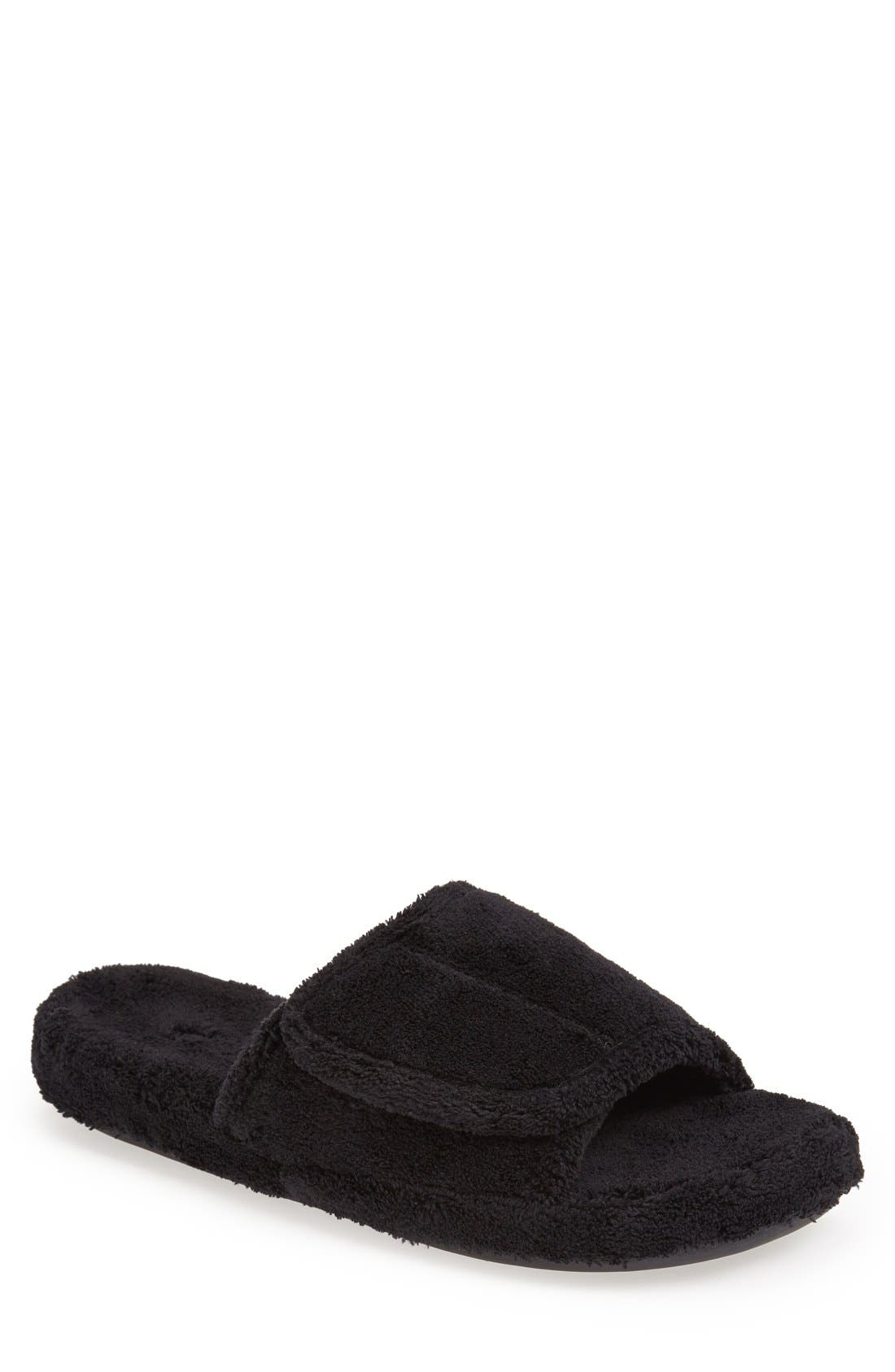 'Spa' Slipper, Main, color, BLACK