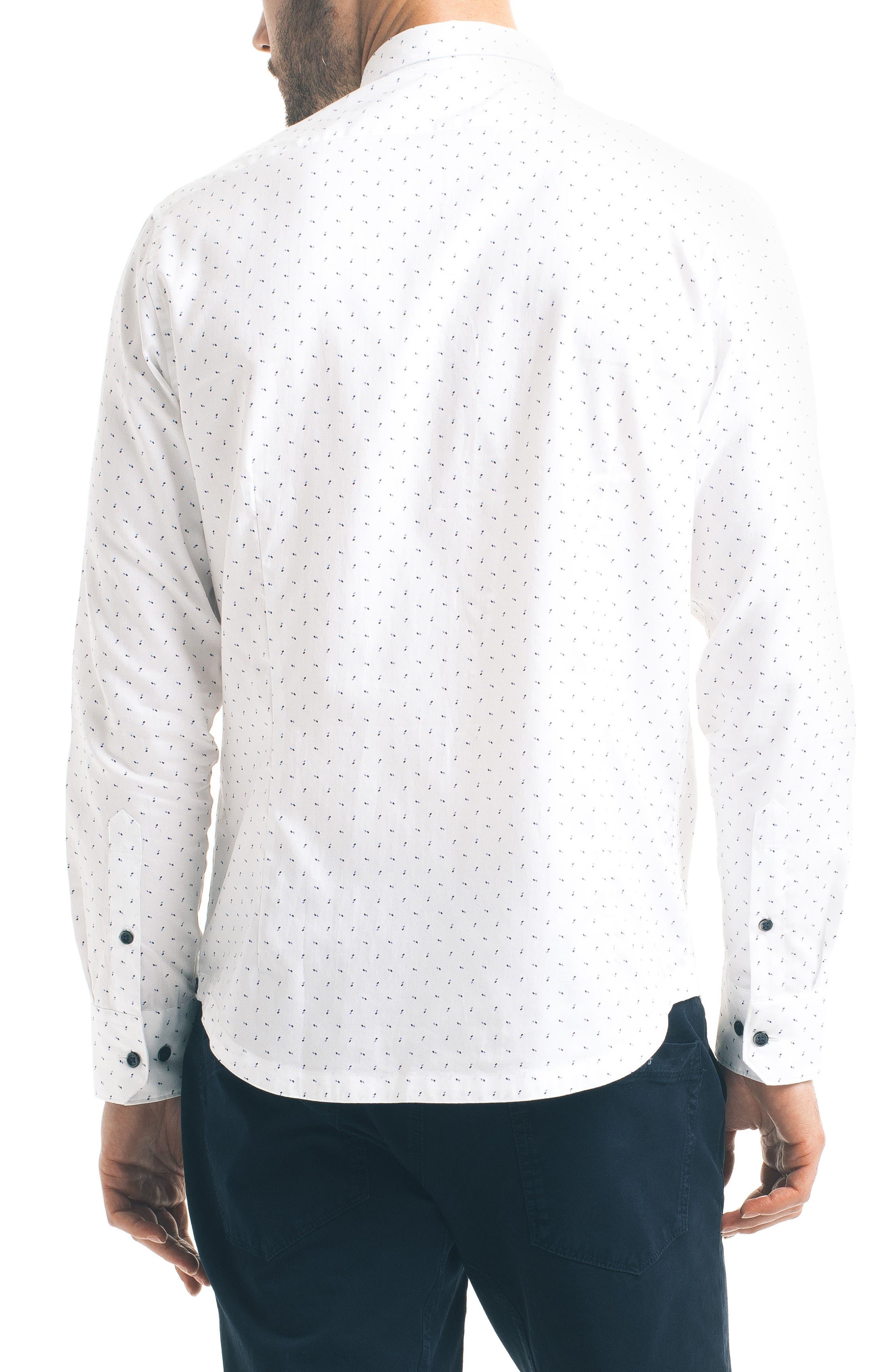Slim Fit Pattern Sport Shirt,                             Alternate thumbnail 2, color,                             100