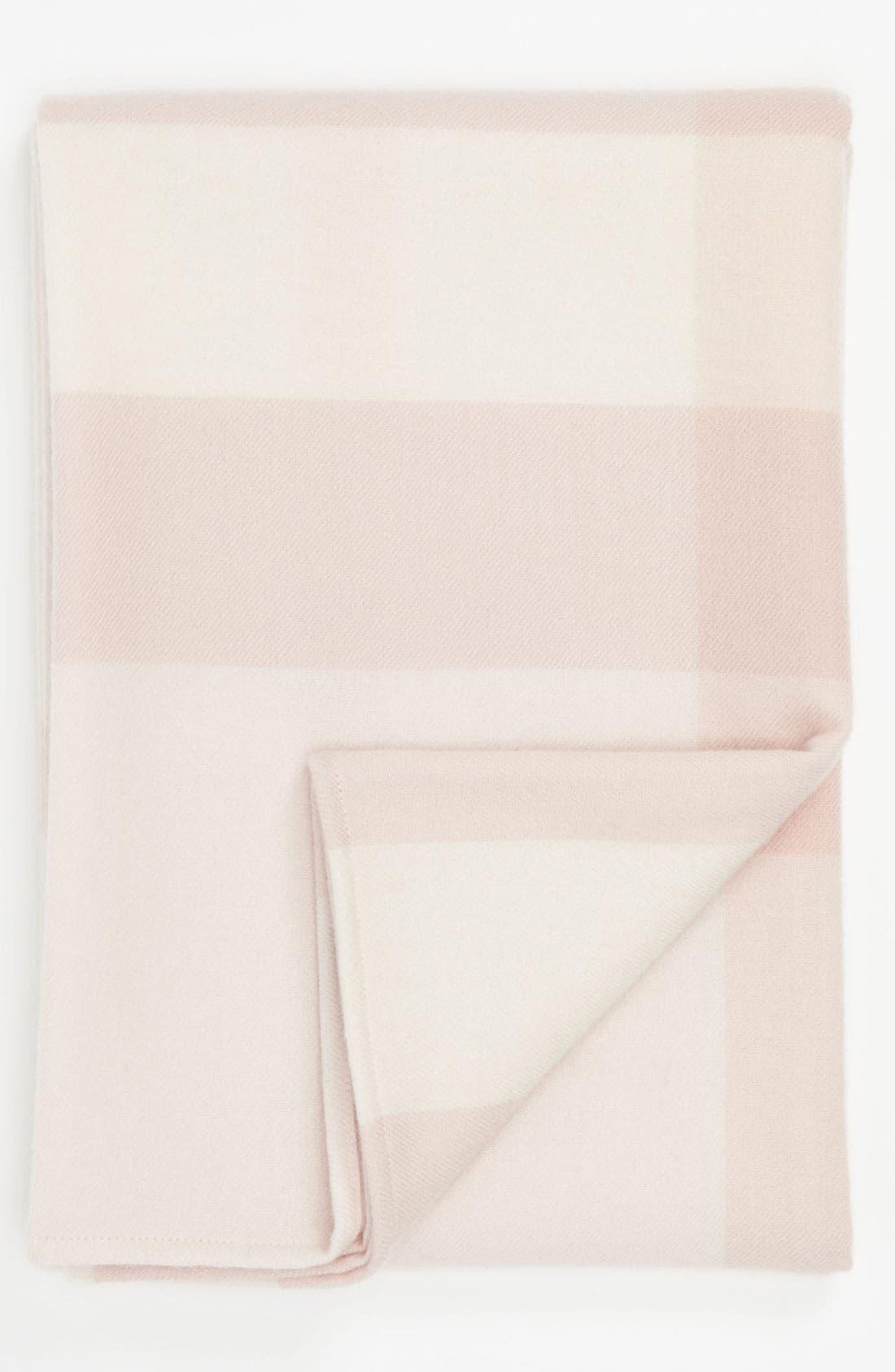 Check Merino Wool Blanket,                             Main thumbnail 1, color,                             681