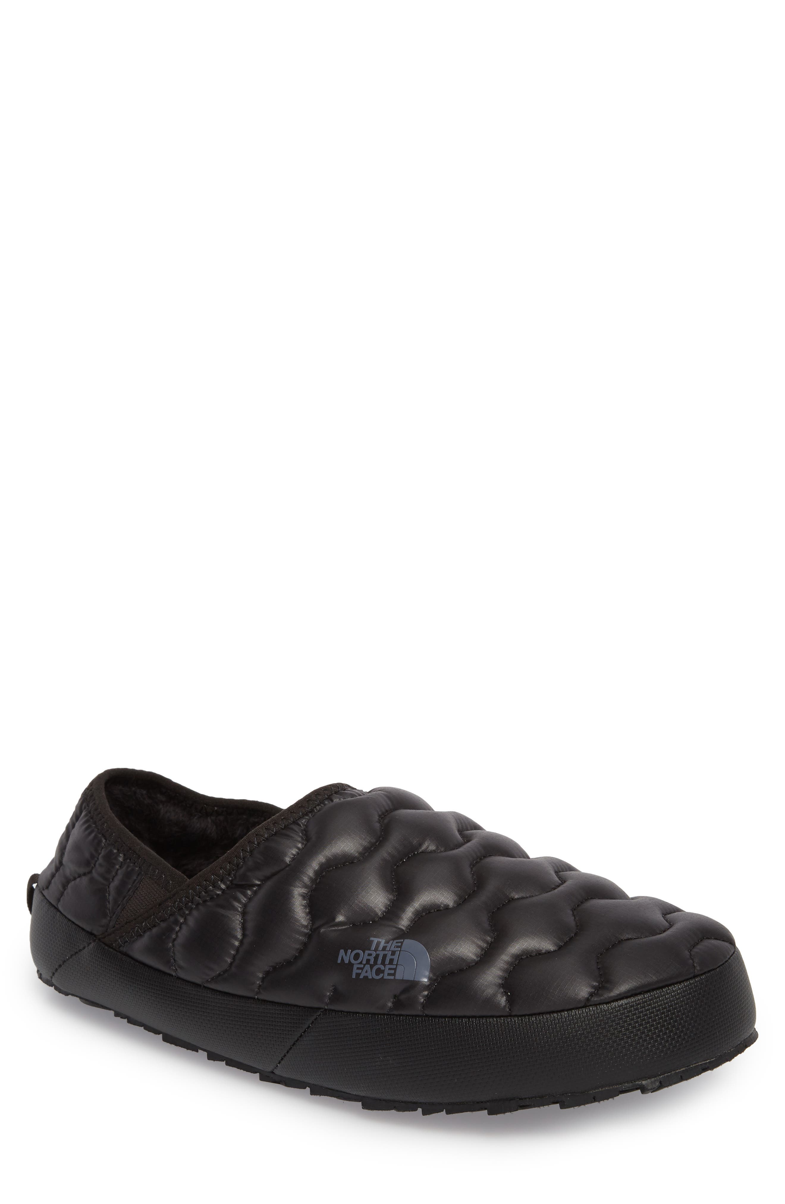 ThermoBall<sup>™</sup> Water-Resistant Traction slipper,                             Main thumbnail 1, color,                             SHINY BLACK/ DARK GREY