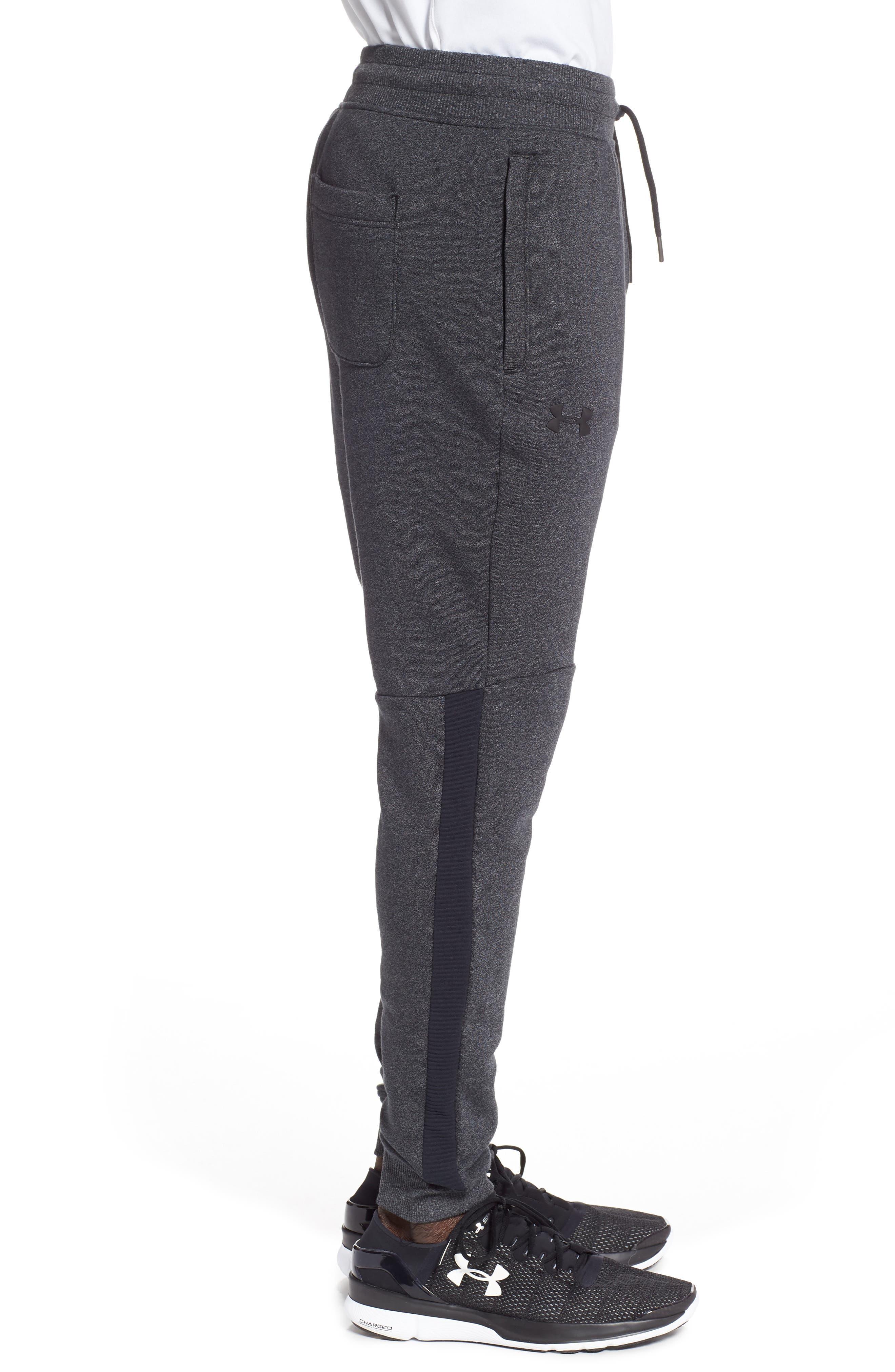 Threadborne Jogger Pants,                             Alternate thumbnail 3, color,                             BLACK/ BLACK
