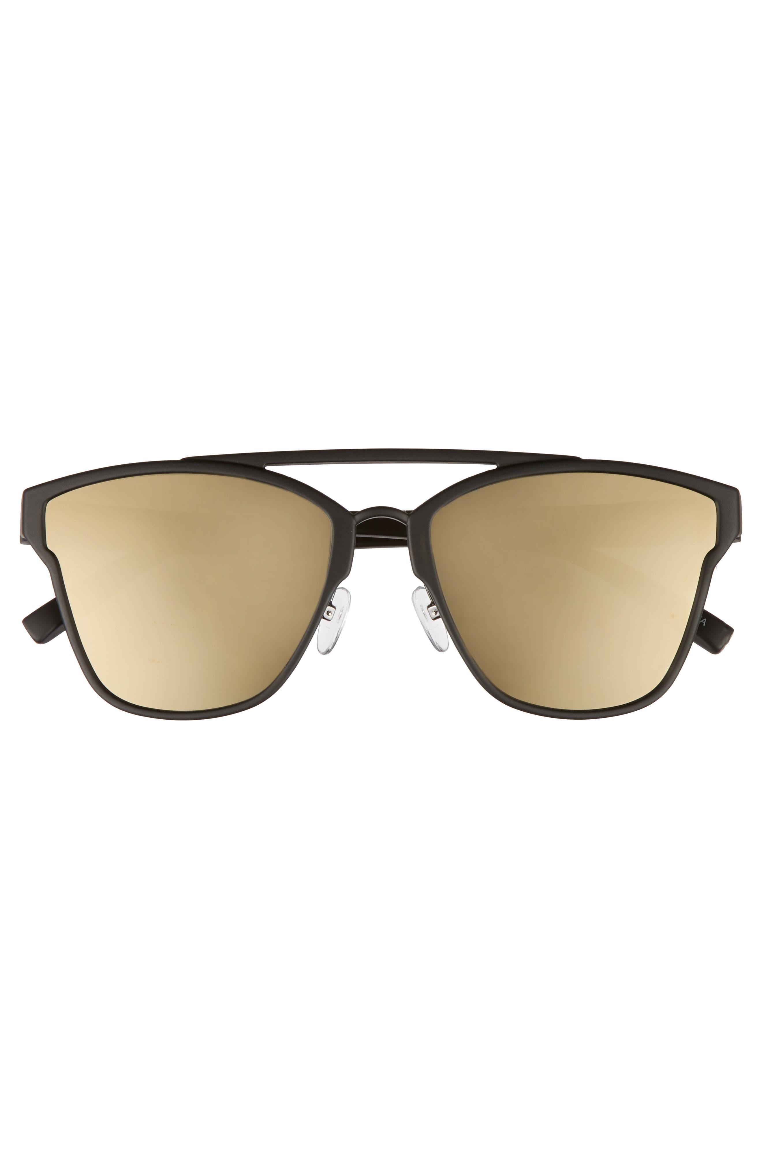 LE SPECS,                             Herstory 55mm Aviator Sunglasses,                             Alternate thumbnail 3, color,                             001