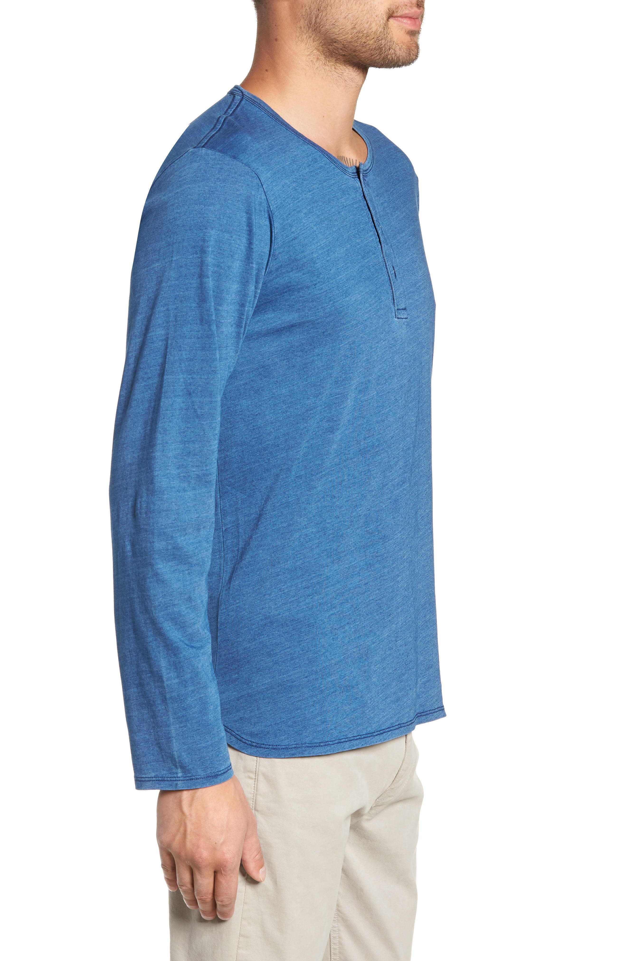 Split Hem Henley Shirt,                             Alternate thumbnail 3, color,                             432