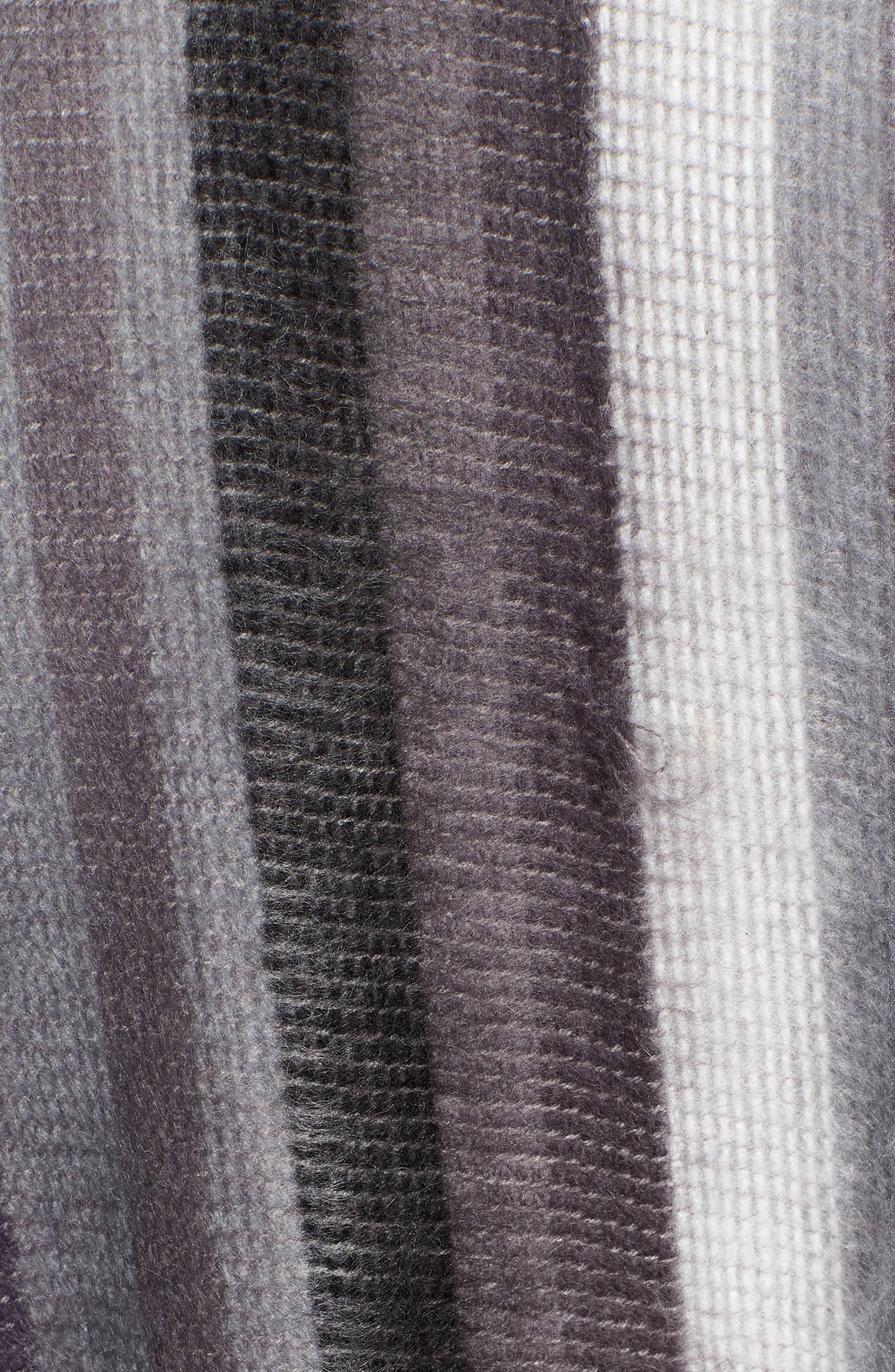 Stripe Blanket Wrap,                             Alternate thumbnail 5, color,                             BLACK COMBO