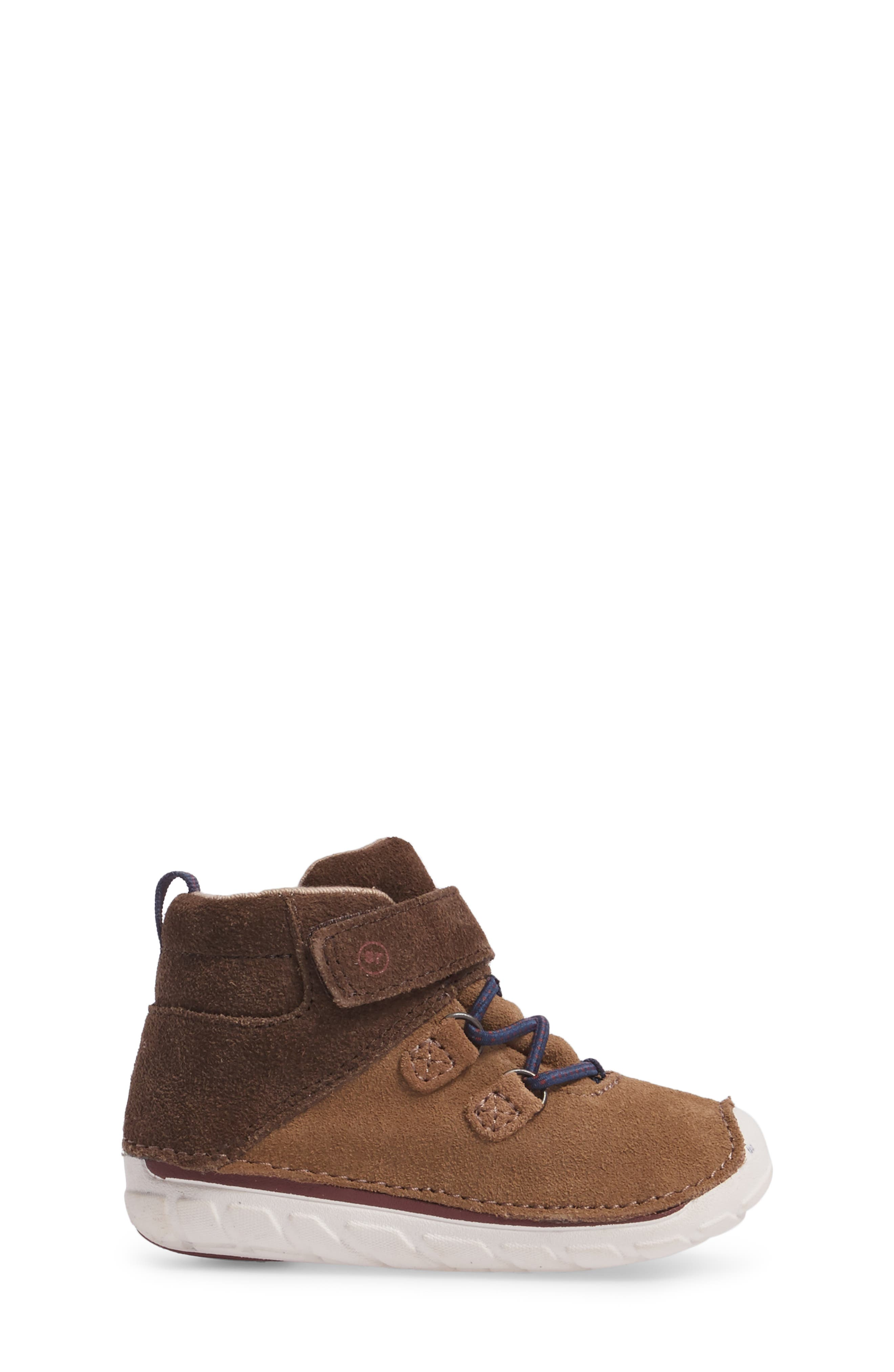 Soft Motion<sup>™</sup> Oliver High Top Sneaker,                             Alternate thumbnail 3, color,                             BROWN SUEDE