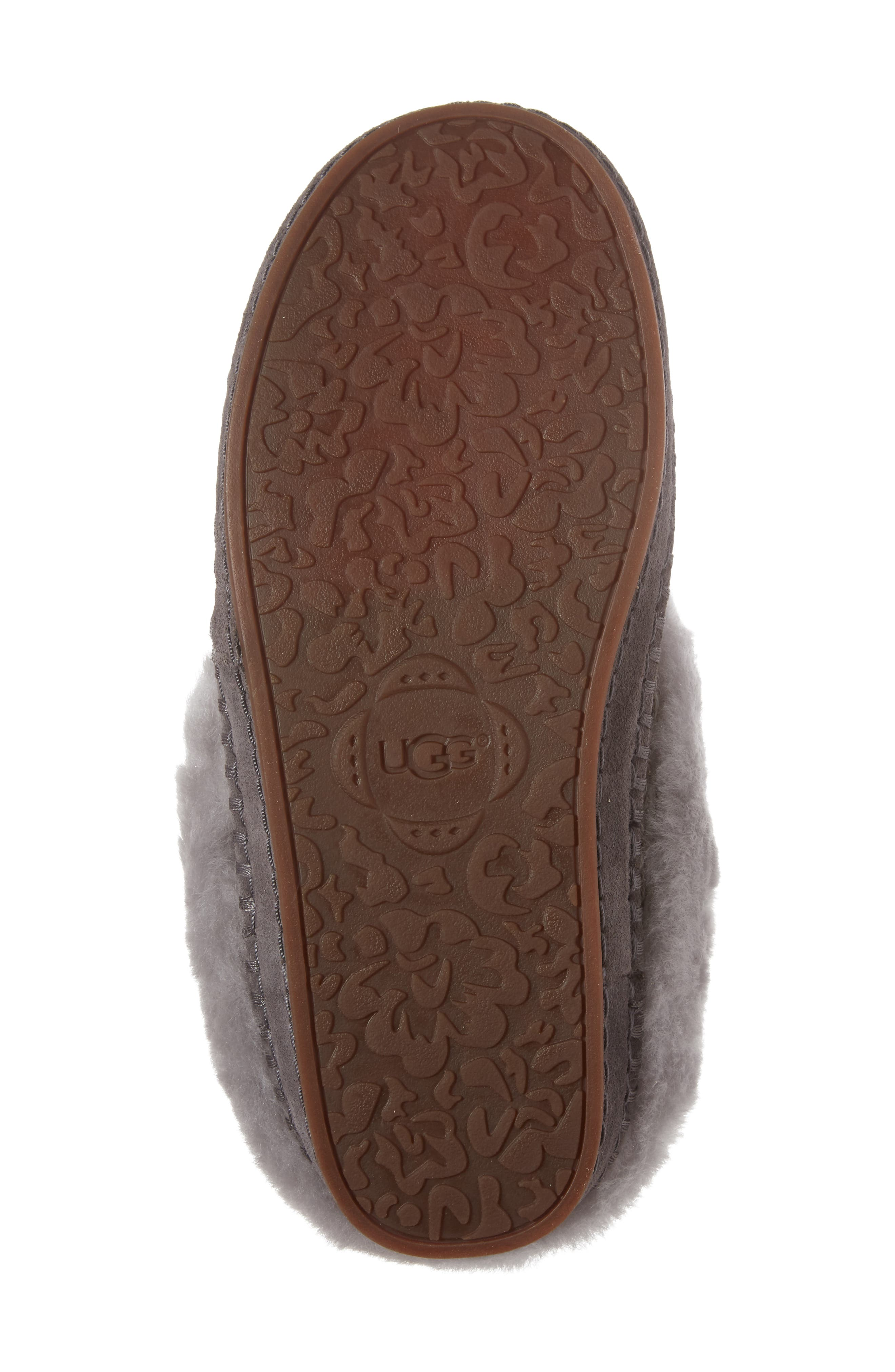 Wrin Rib-Knit & Genuine Shearling Slipper,                             Alternate thumbnail 6, color,                             020