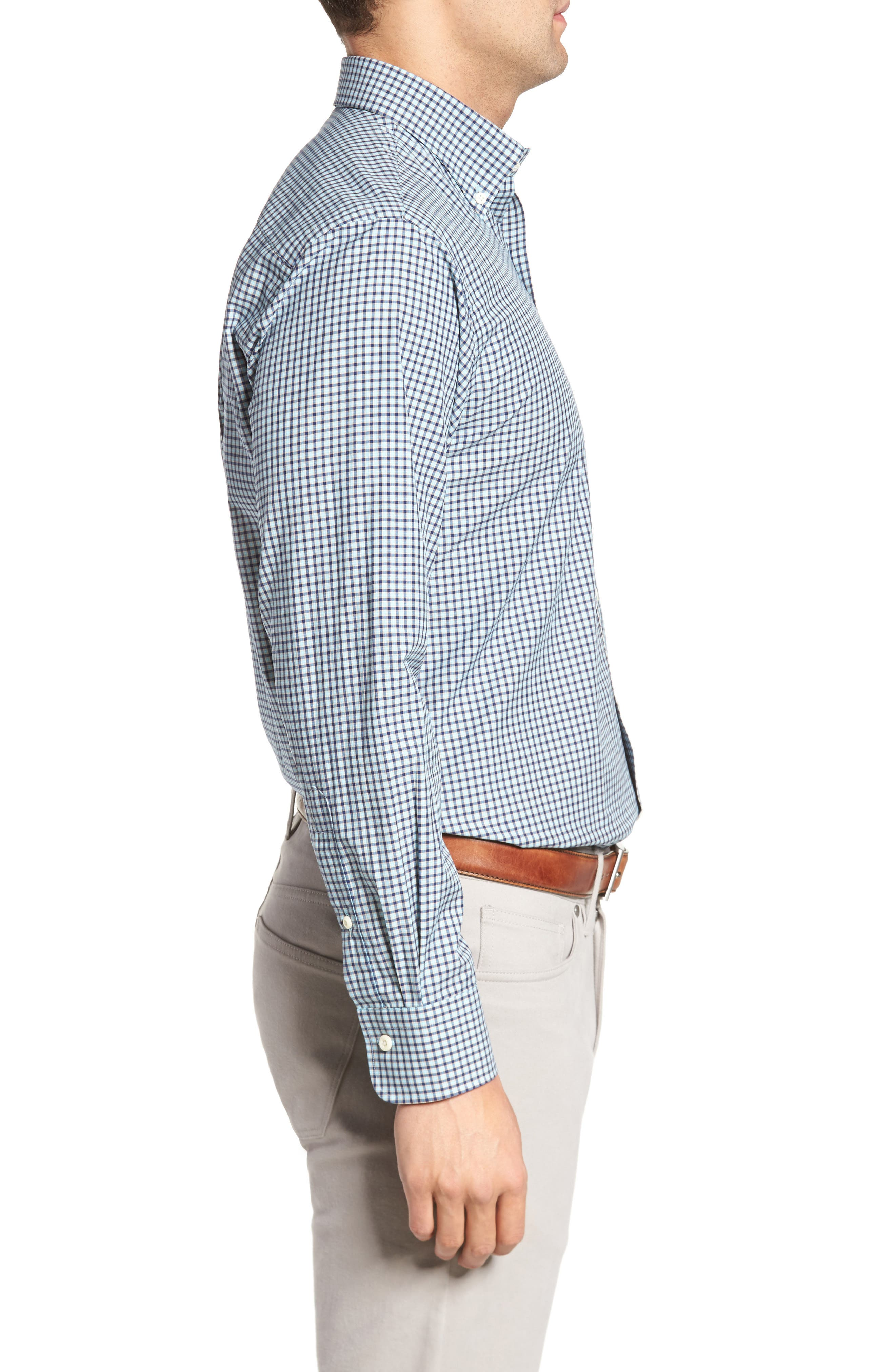 Classic Fit Alligator Check Sport Shirt,                             Alternate thumbnail 8, color,
