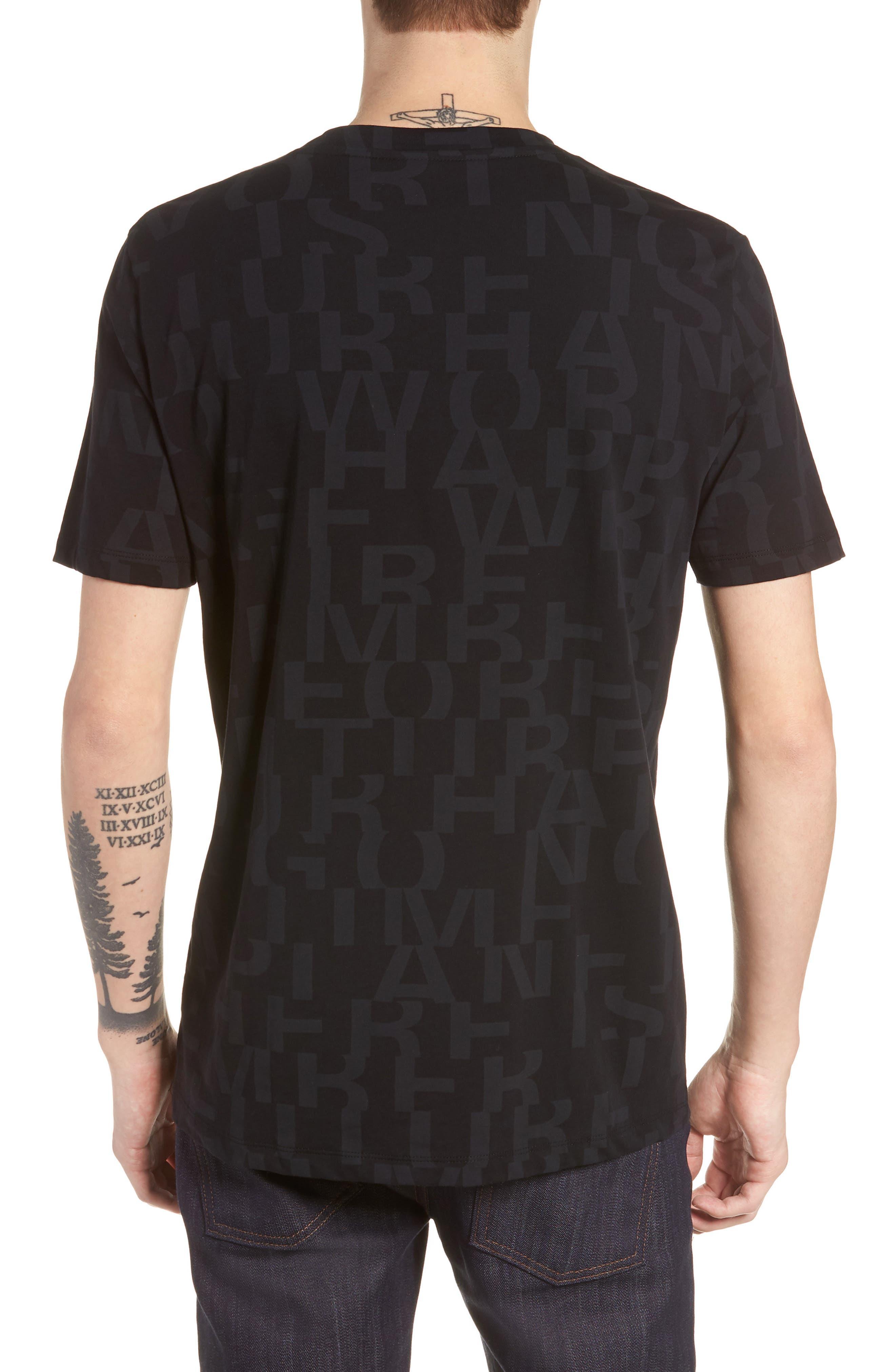 Dyrics Letter Graphic T-Shirt,                             Alternate thumbnail 2, color,                             BLACK