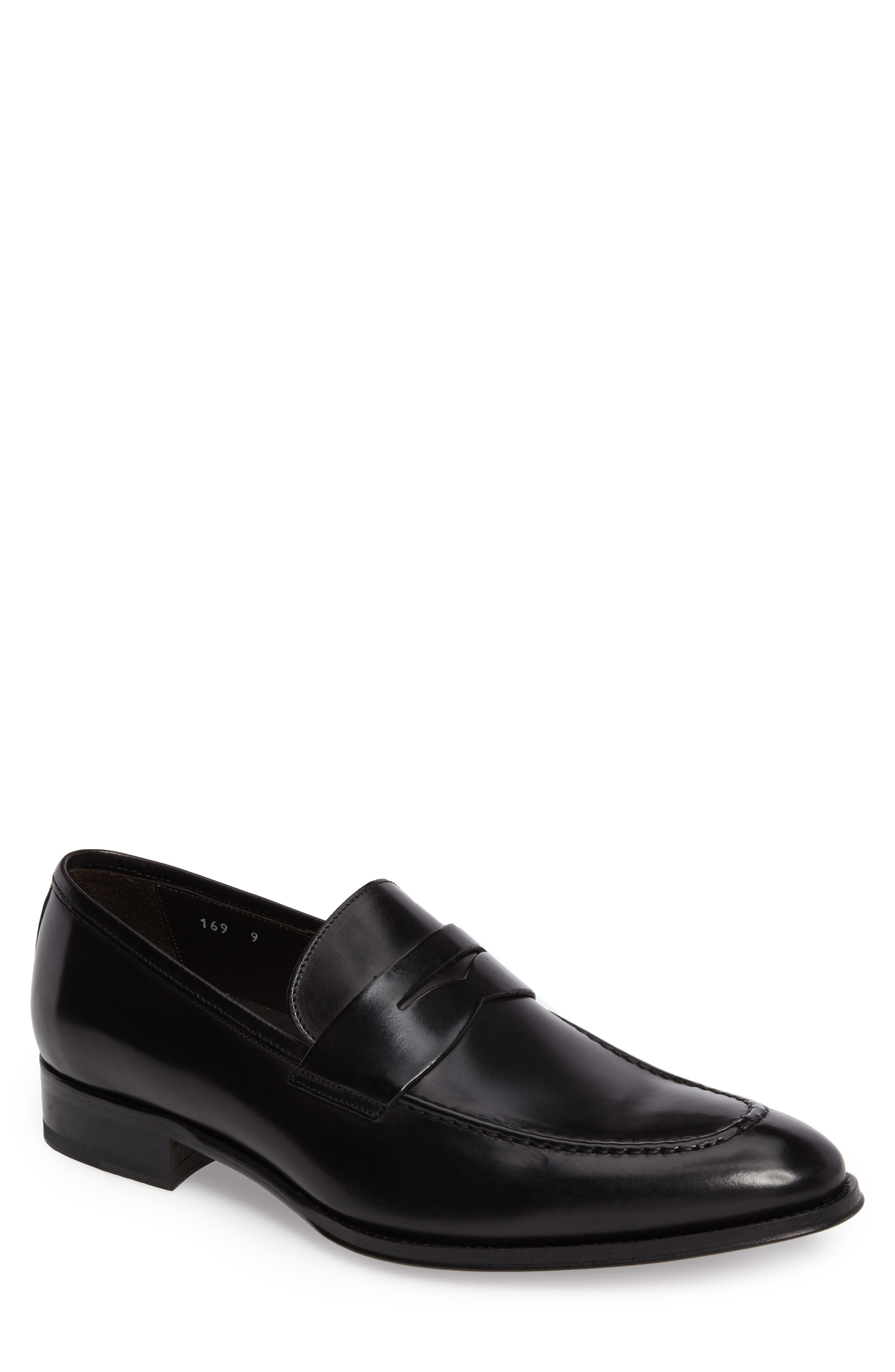 Alexander Penny Loafer,                             Main thumbnail 1, color,                             BLACK