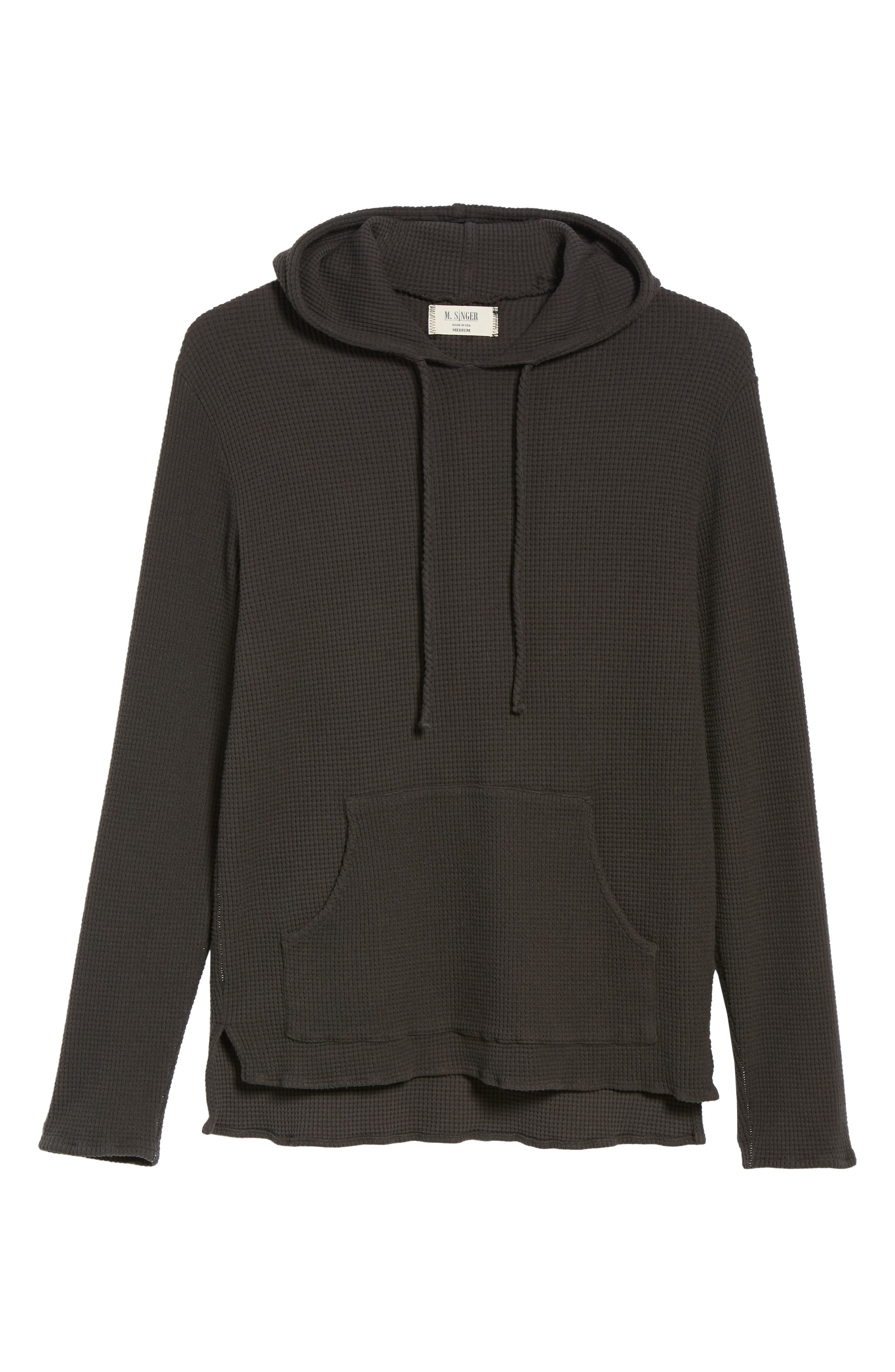 Thermal Knit Pullover Hoodie,                             Alternate thumbnail 6, color,                             020