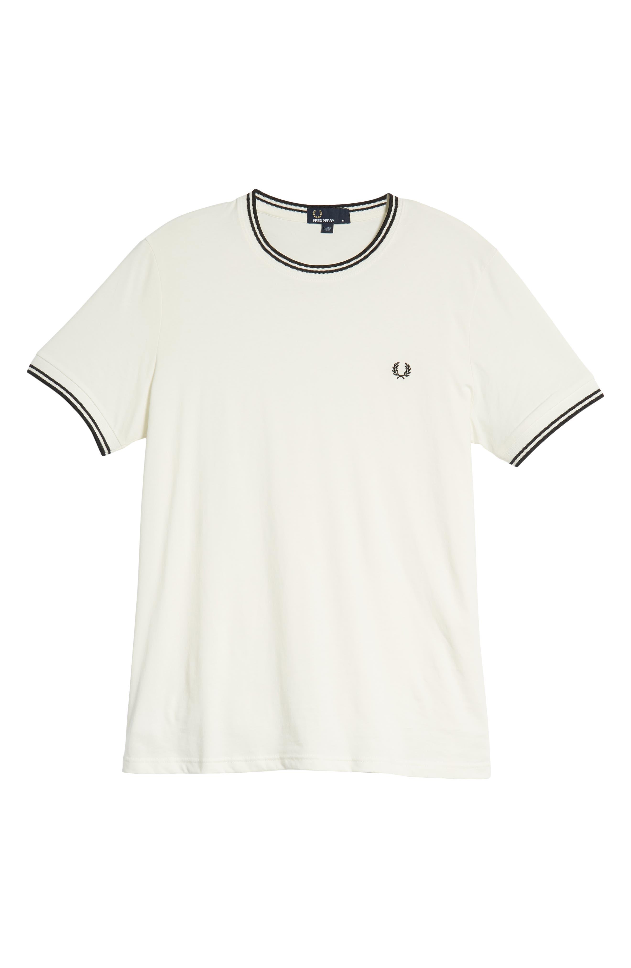Contrast Trim T-Shirt,                             Alternate thumbnail 6, color,                             SNOW WHITE