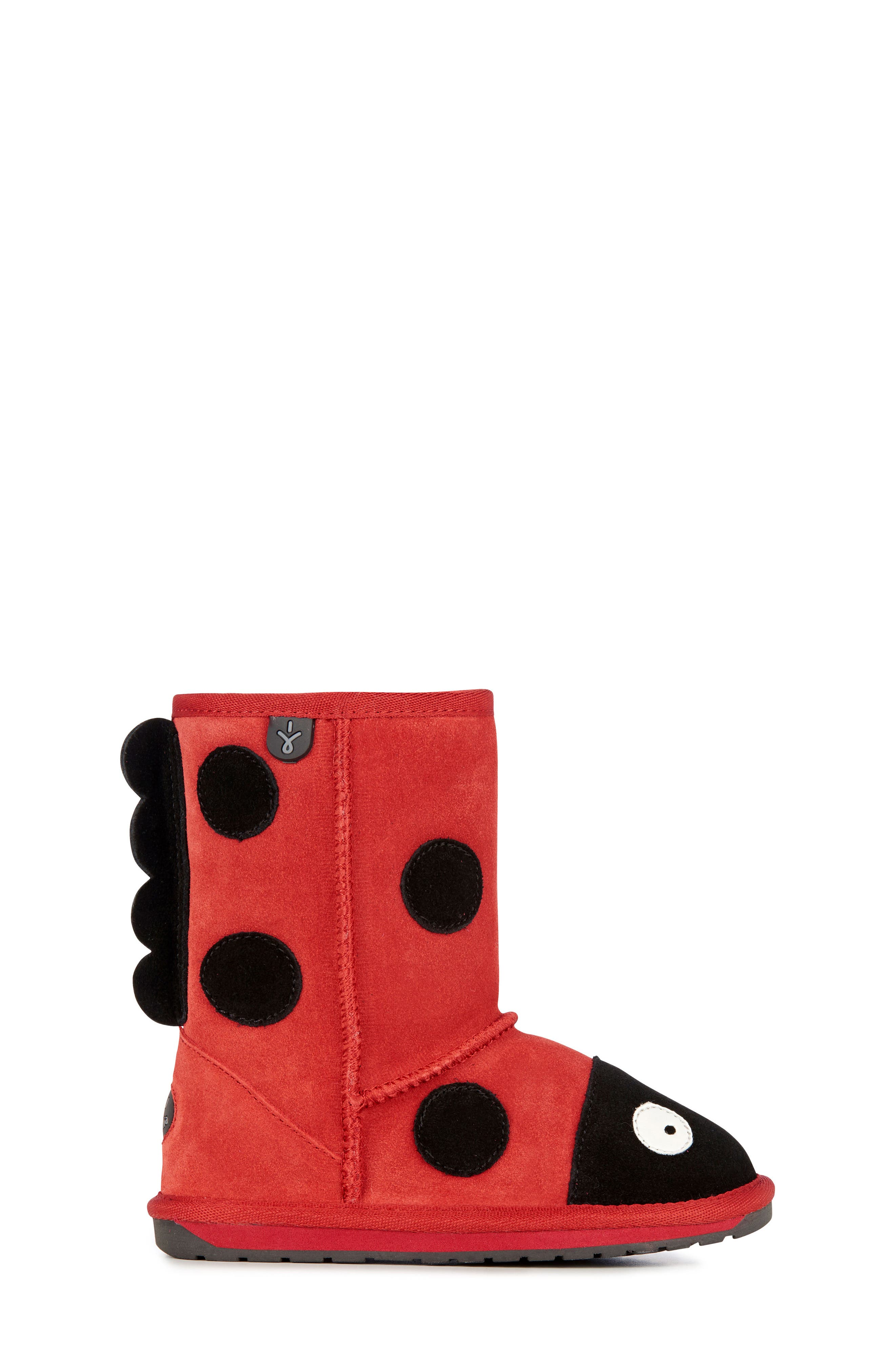Little Creatures - Ladybug Boot,                             Alternate thumbnail 4, color,                             RED