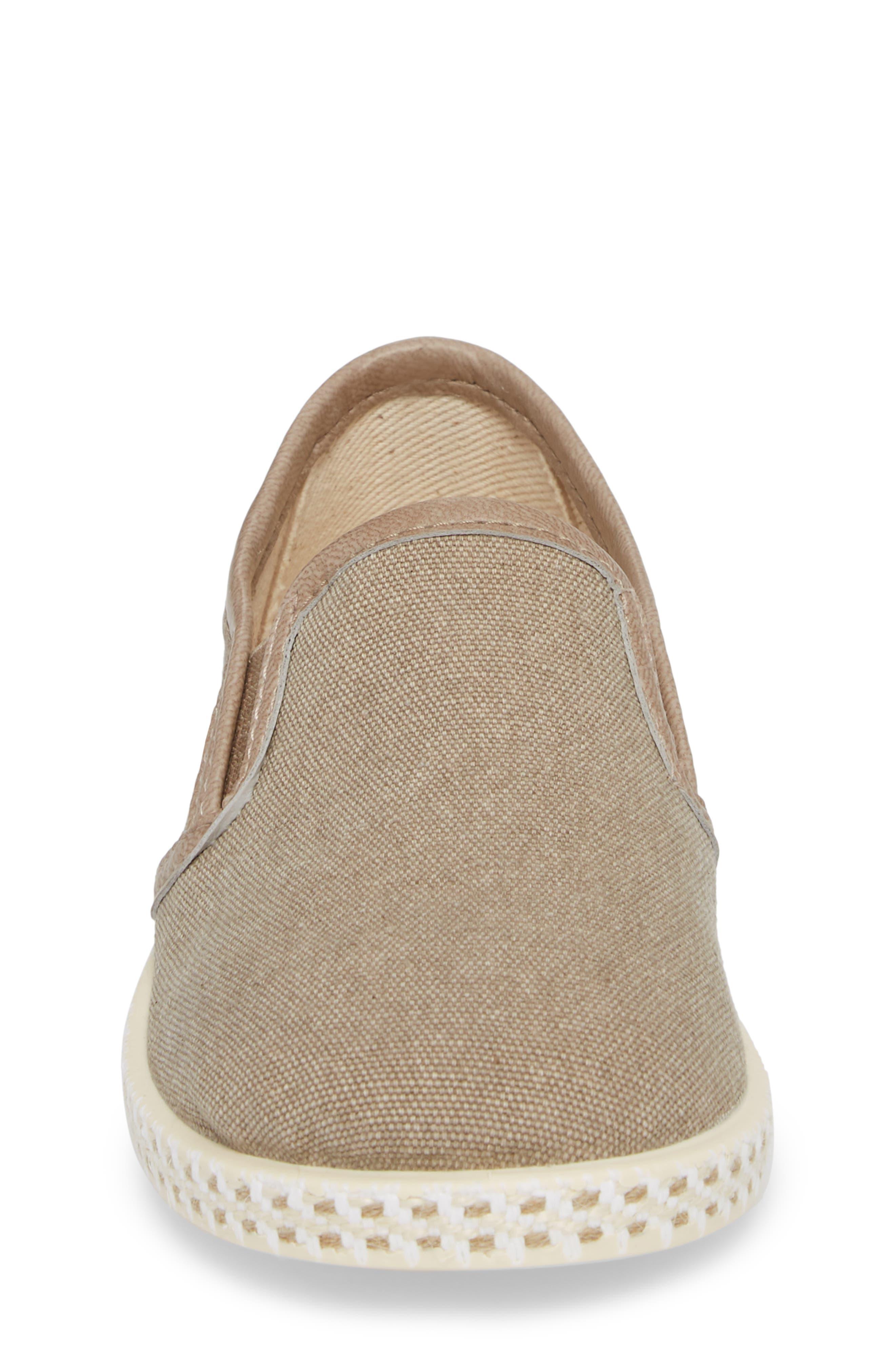Lona Slip-On Sneaker,                             Alternate thumbnail 4, color,                             TAUPE