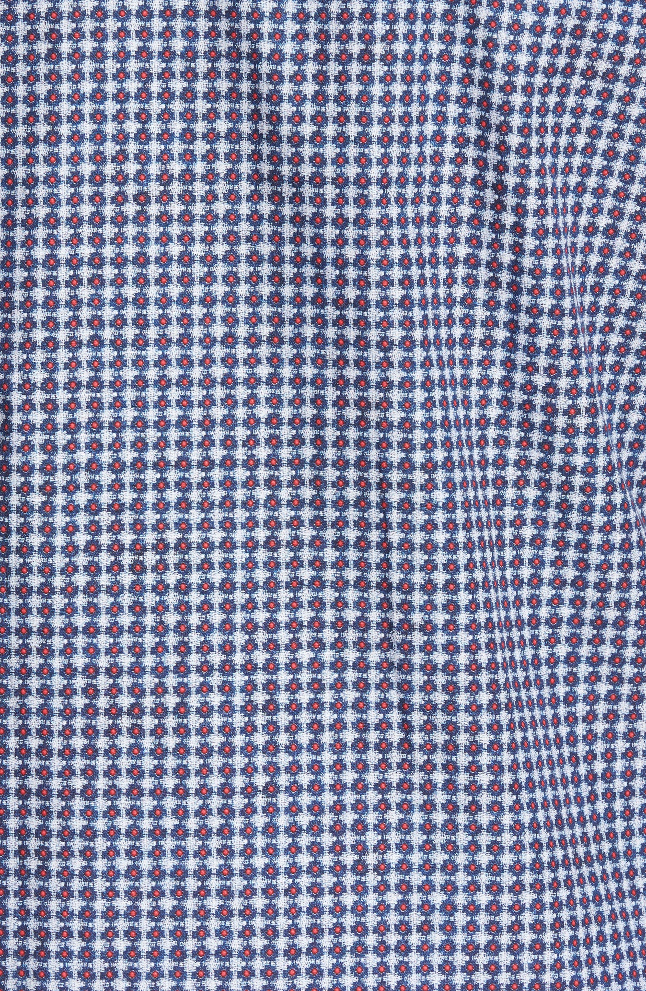 Classic Fit Geo Print Sport Shirt,                             Alternate thumbnail 5, color,                             411