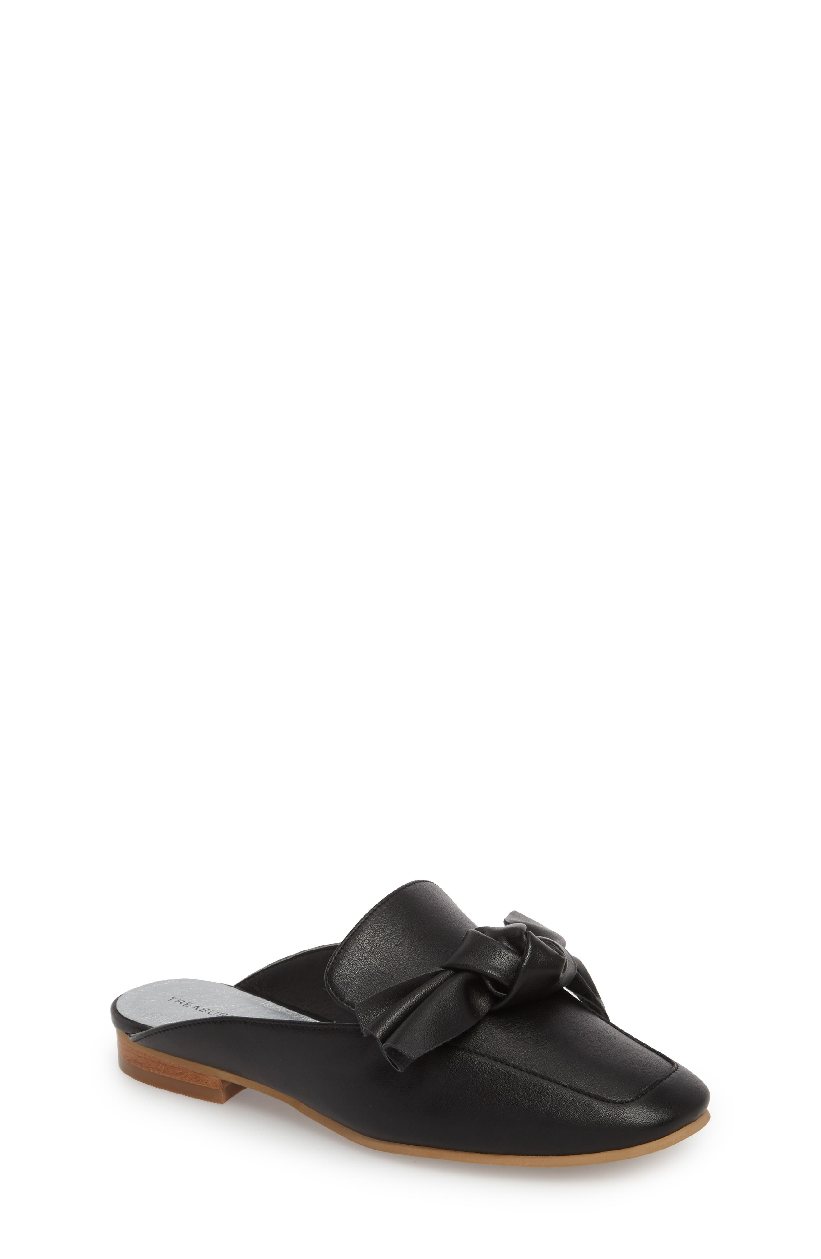 Gina Knotted Loafer Mule,                         Main,                         color, 001