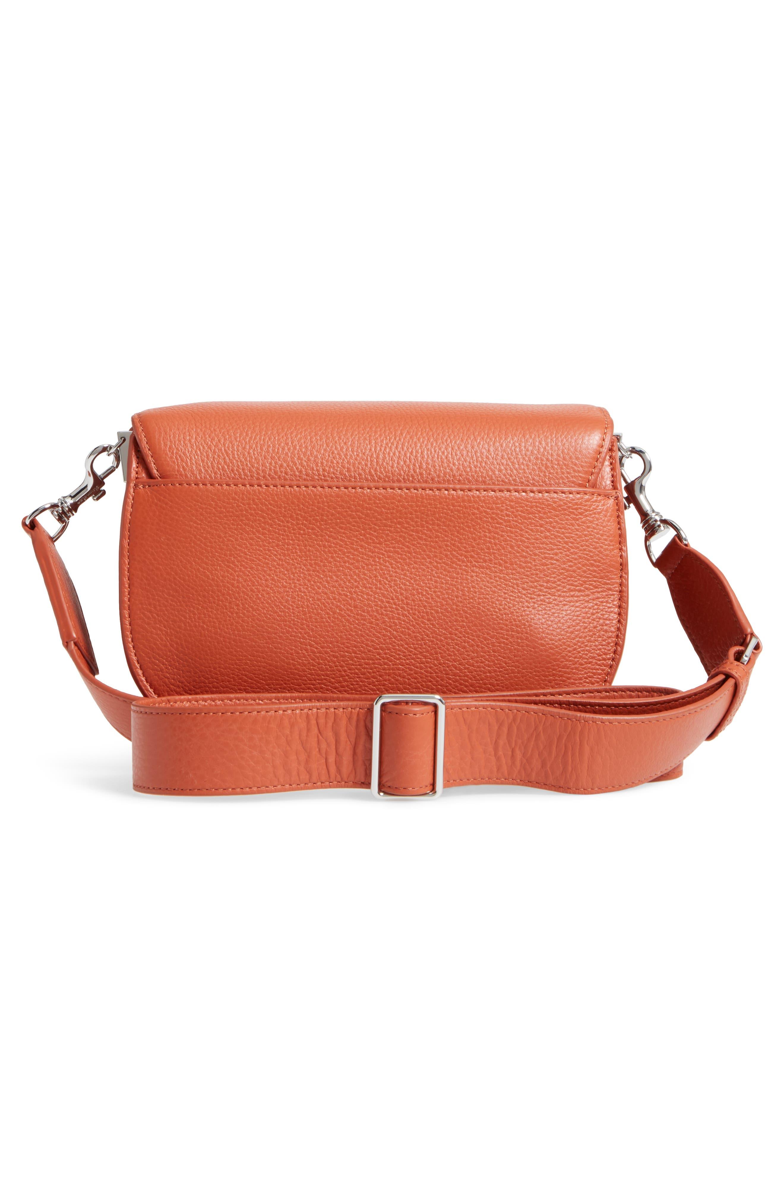 Landon Leather Crossbody Saddle Bag,                             Alternate thumbnail 12, color,