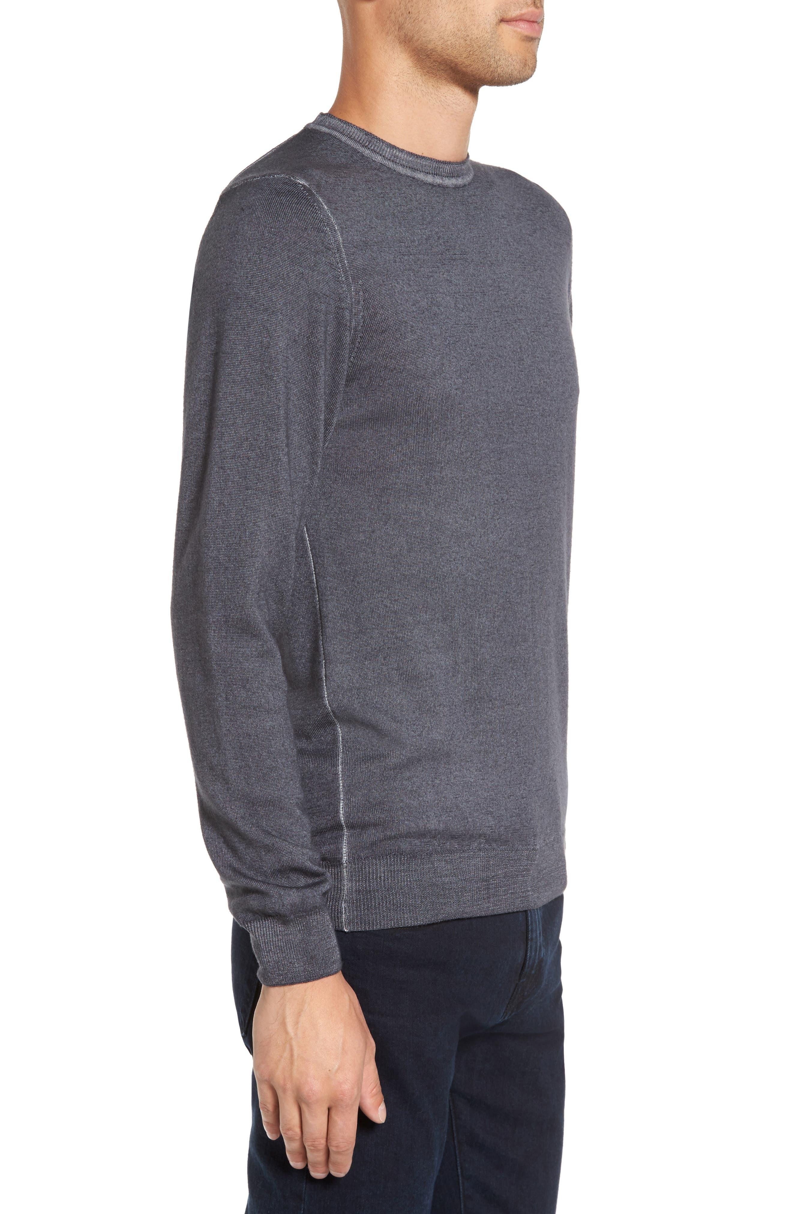 V-Neck Merino Wool Sweater,                             Alternate thumbnail 7, color,