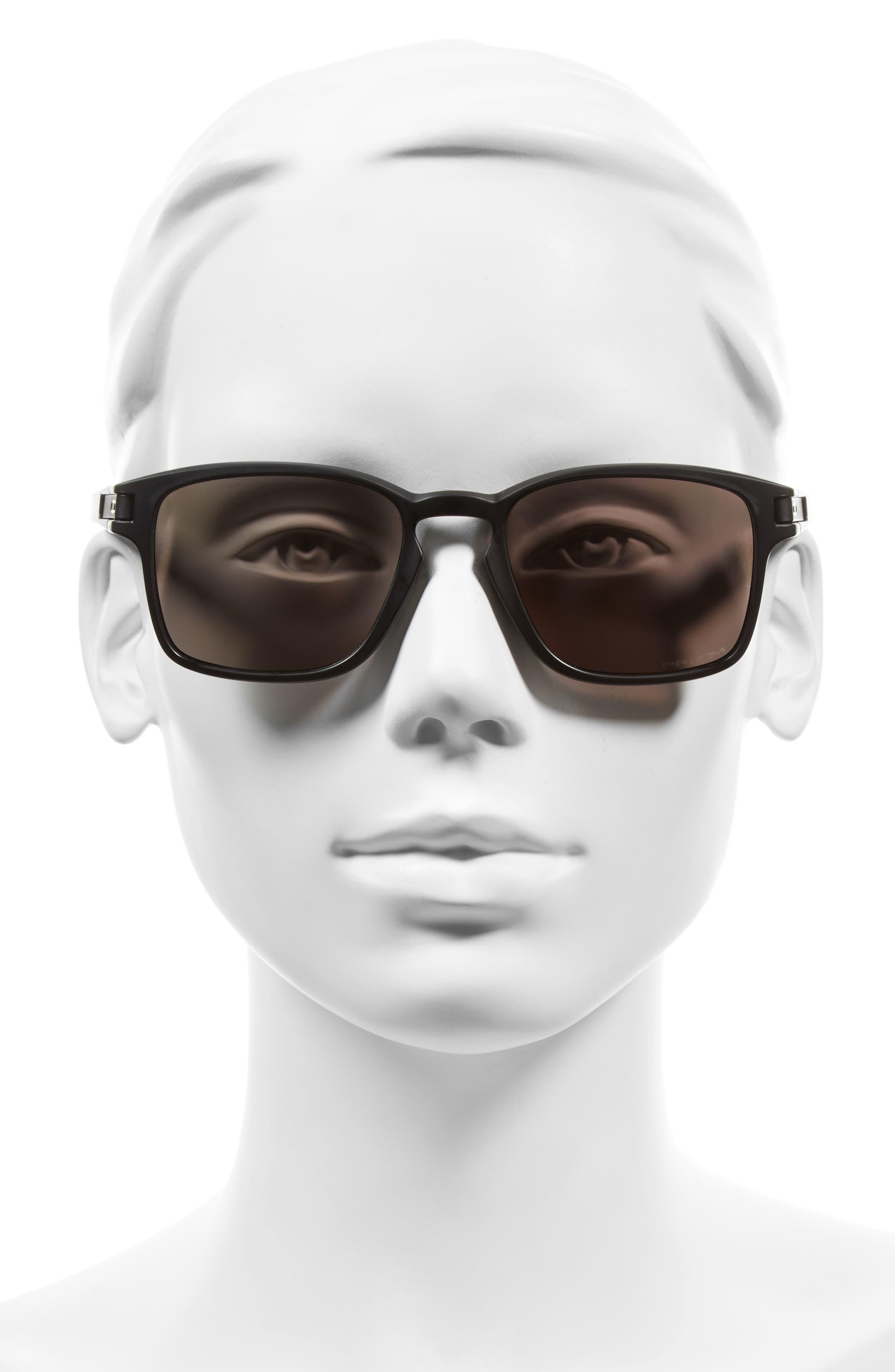Latch 52mm Polarized Rectangular Sunglasses,                             Alternate thumbnail 2, color,                             001