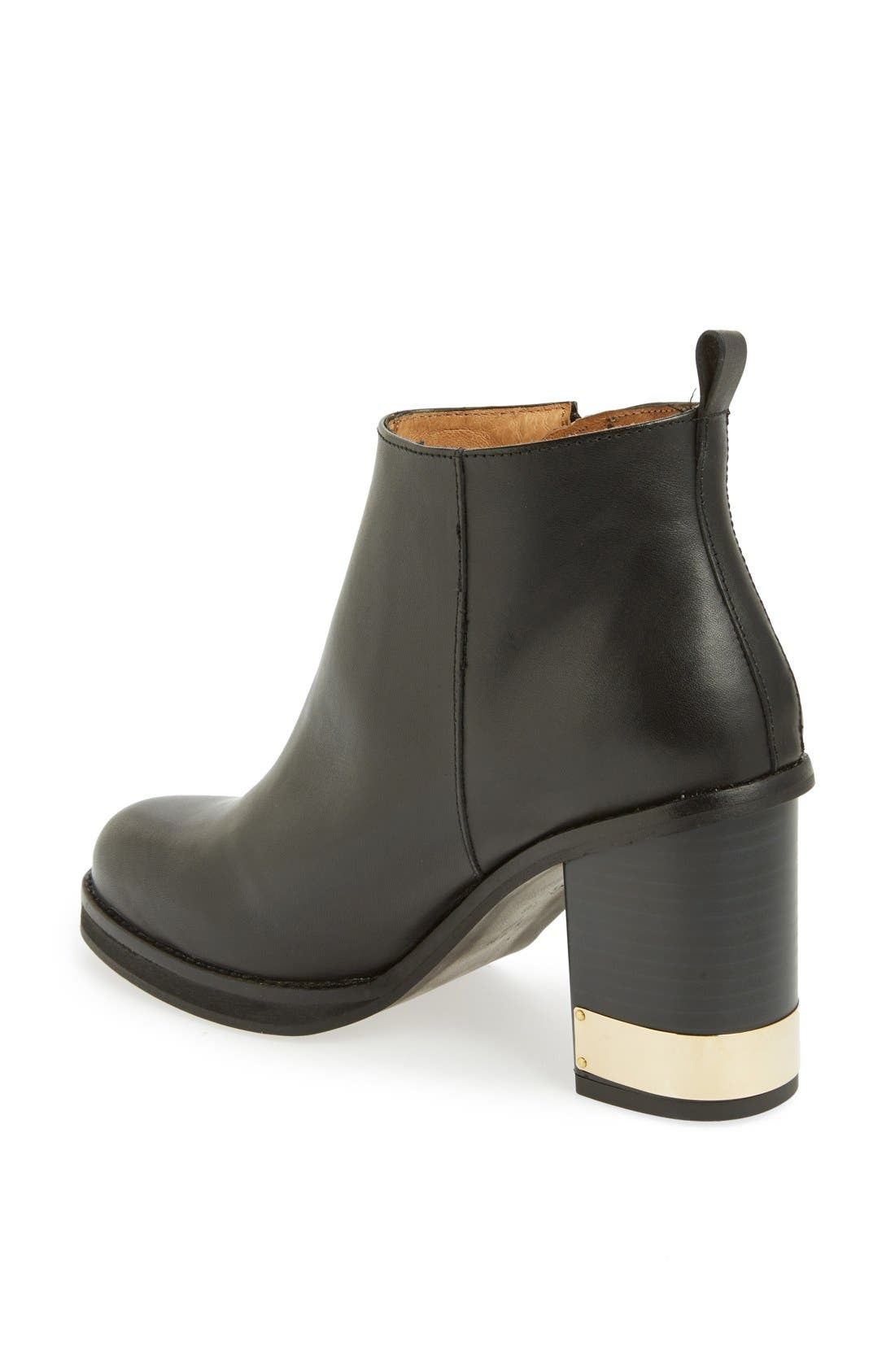 TOPSHOP,                             'All Ours' Ankle Boot,                             Alternate thumbnail 3, color,                             001