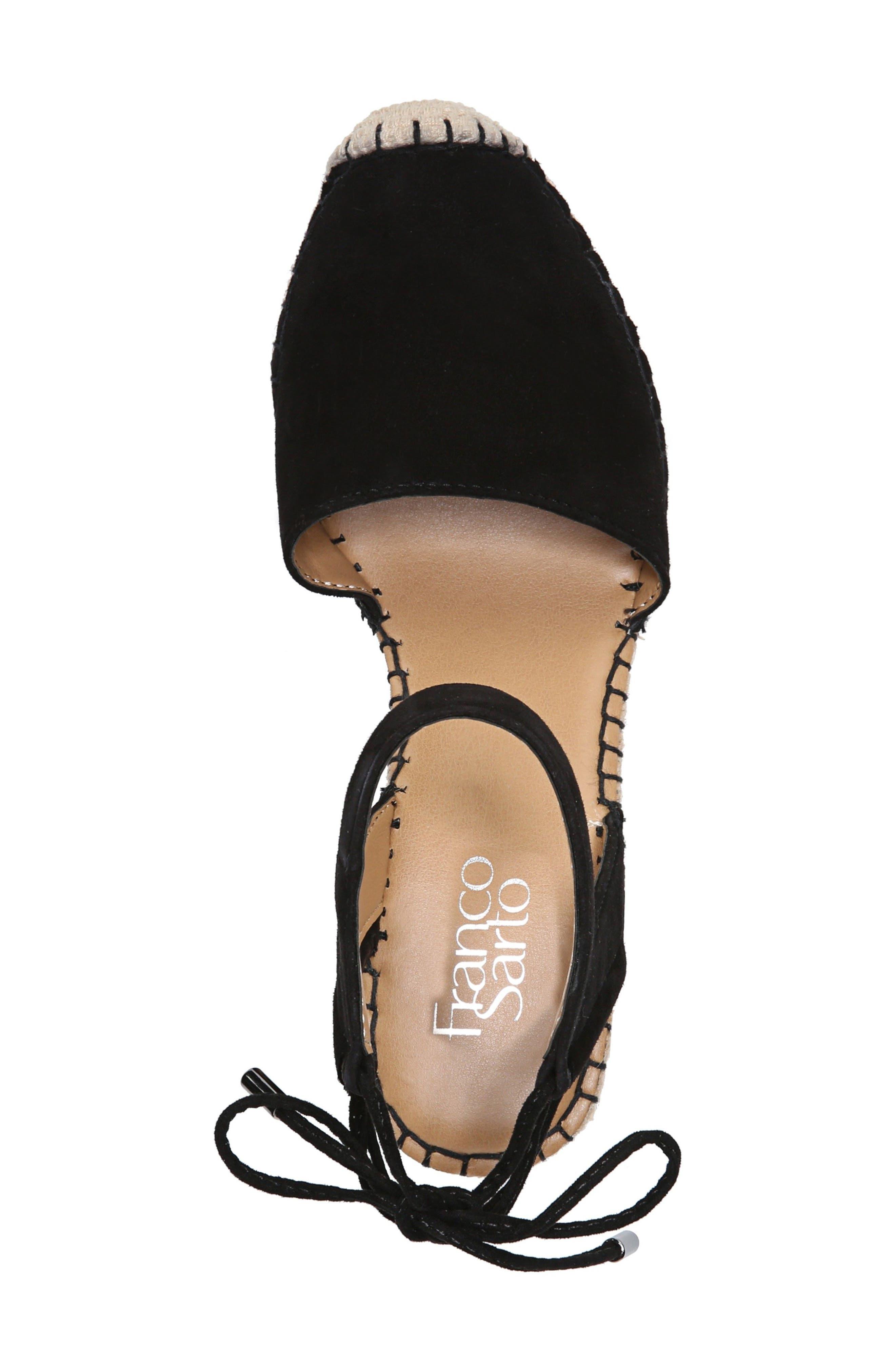 Mariska Espadrille Wedge Sandal,                             Alternate thumbnail 5, color,                             002