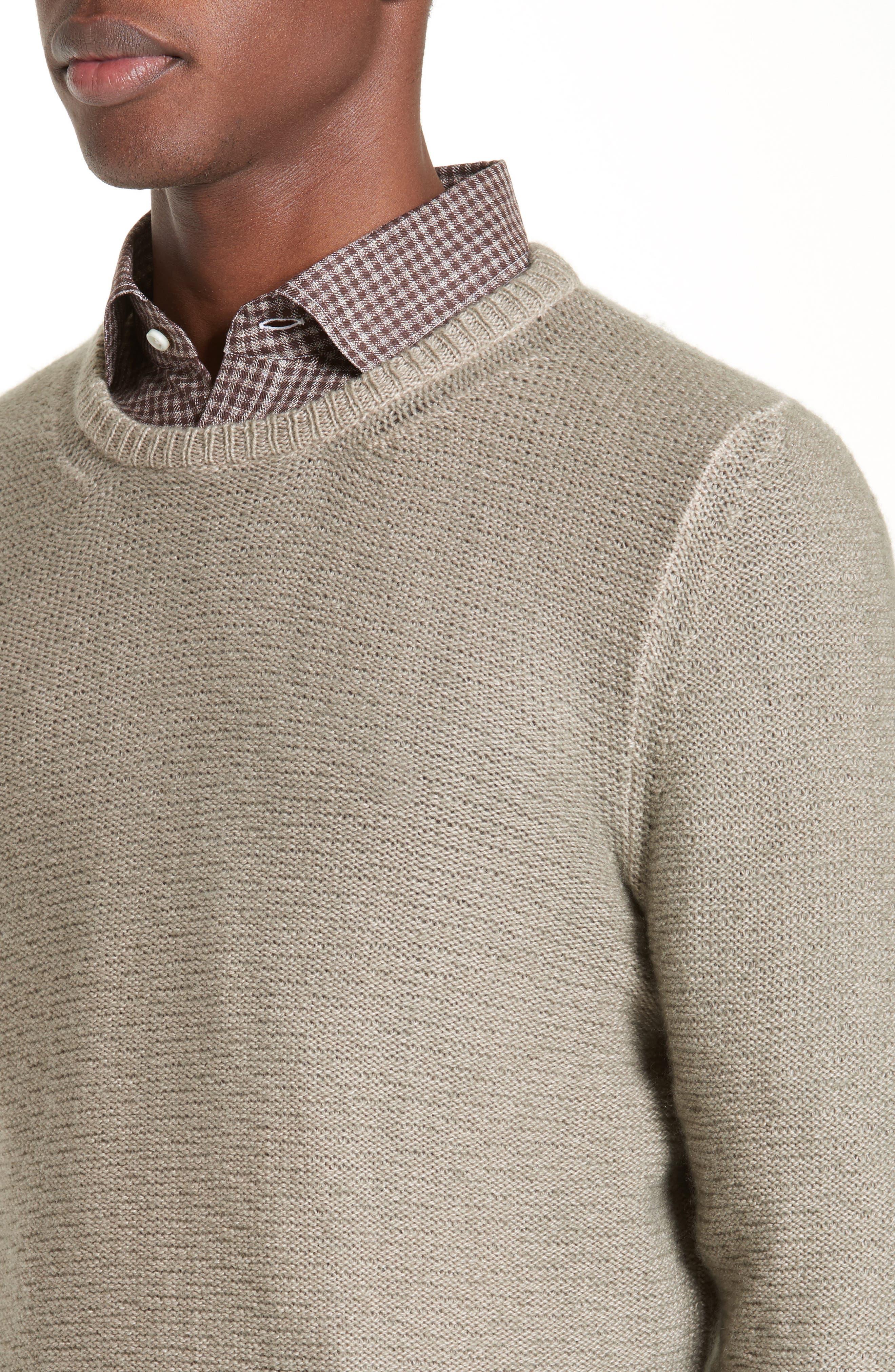 Napoli Slub Cashmere Sweater,                             Alternate thumbnail 4, color,                             200