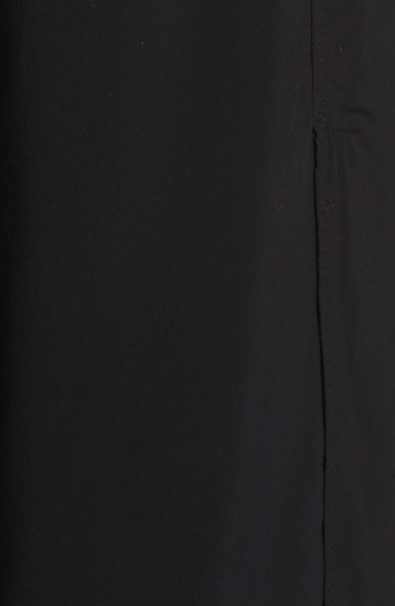 Nima Front Slit Pants,                             Alternate thumbnail 5, color,                             001