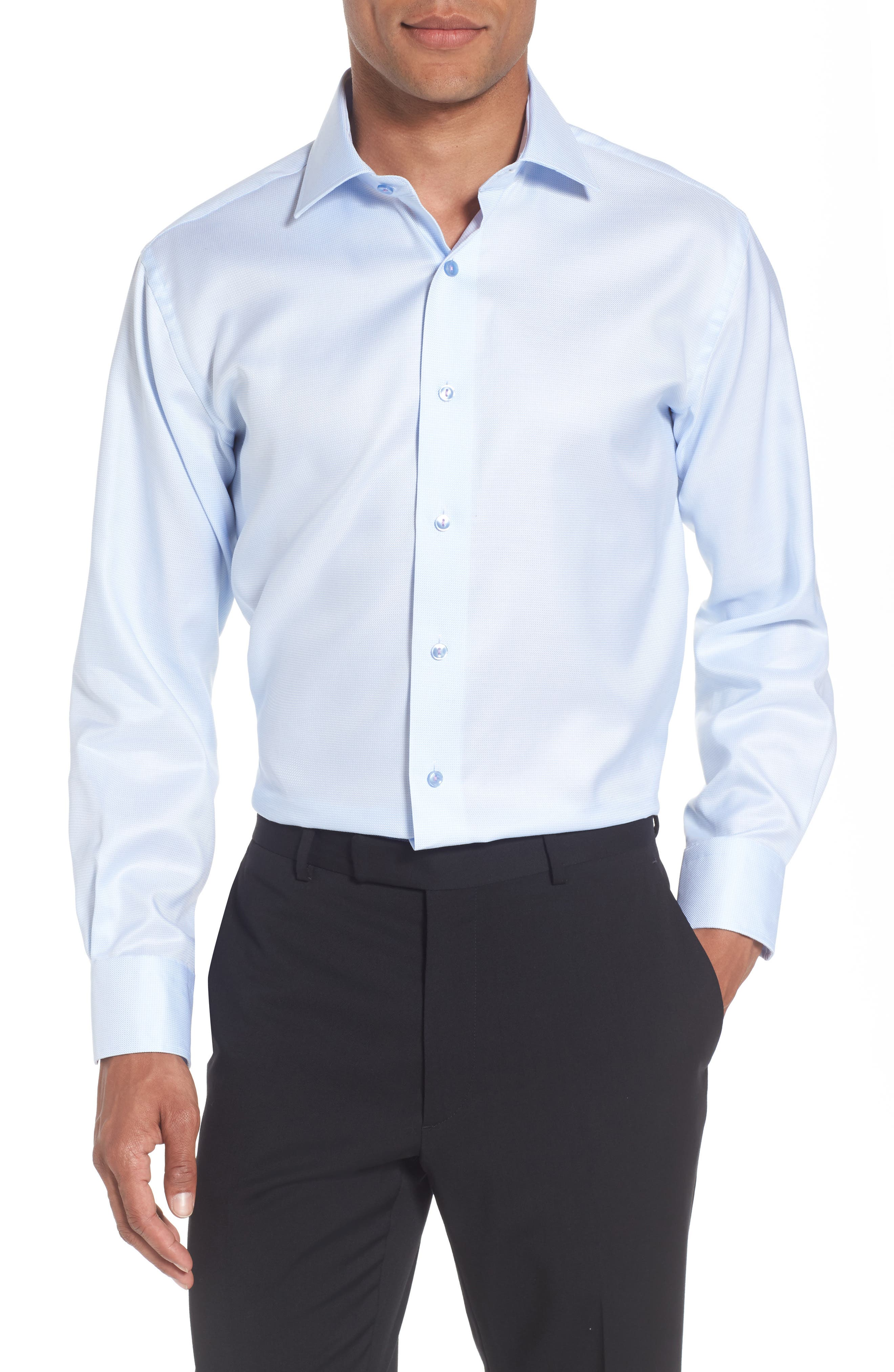 Trim Fit Houndstooth Dress Shirt,                         Main,                         color,