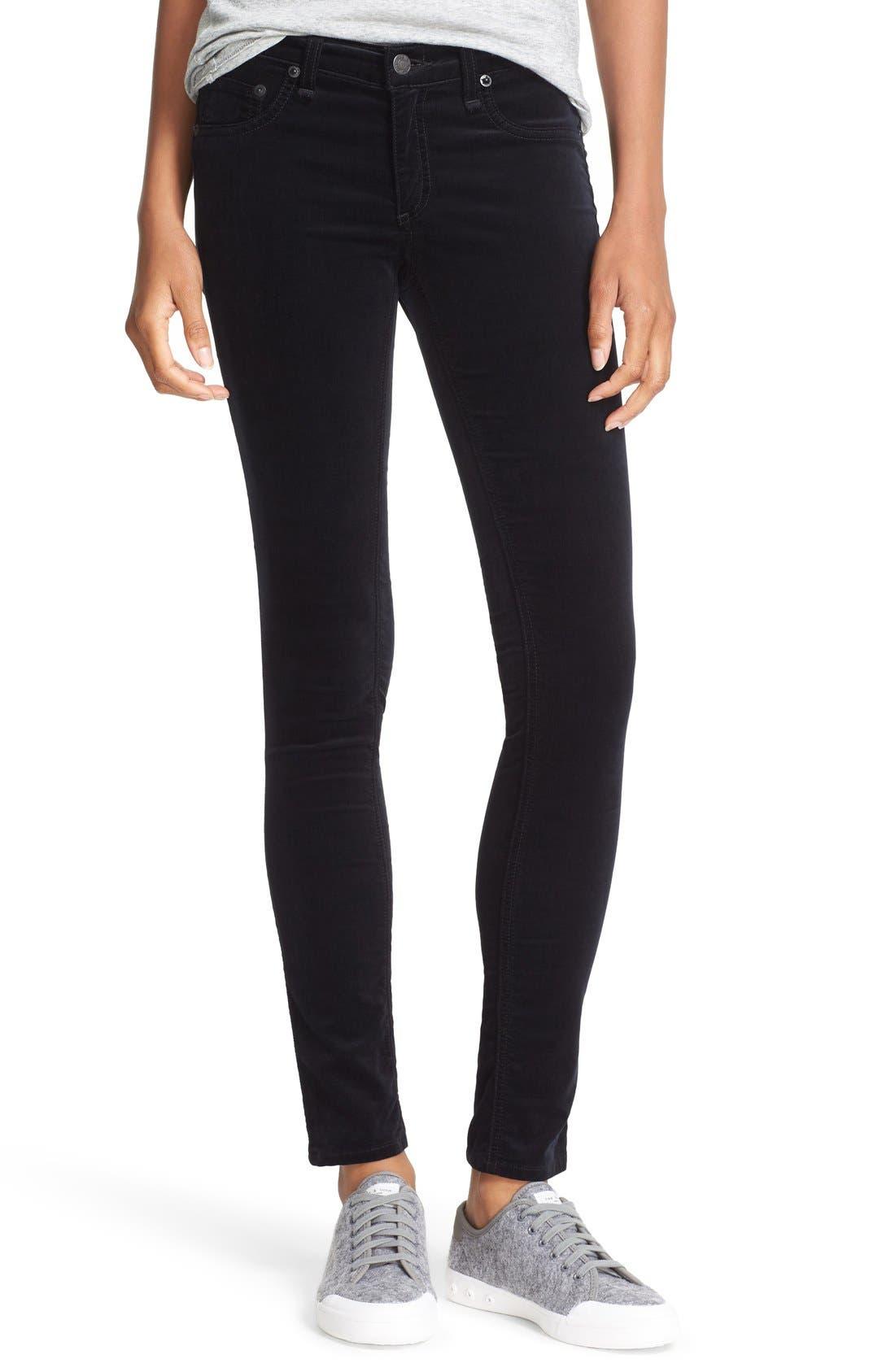 Velvet Skinny Pants,                         Main,                         color, 001
