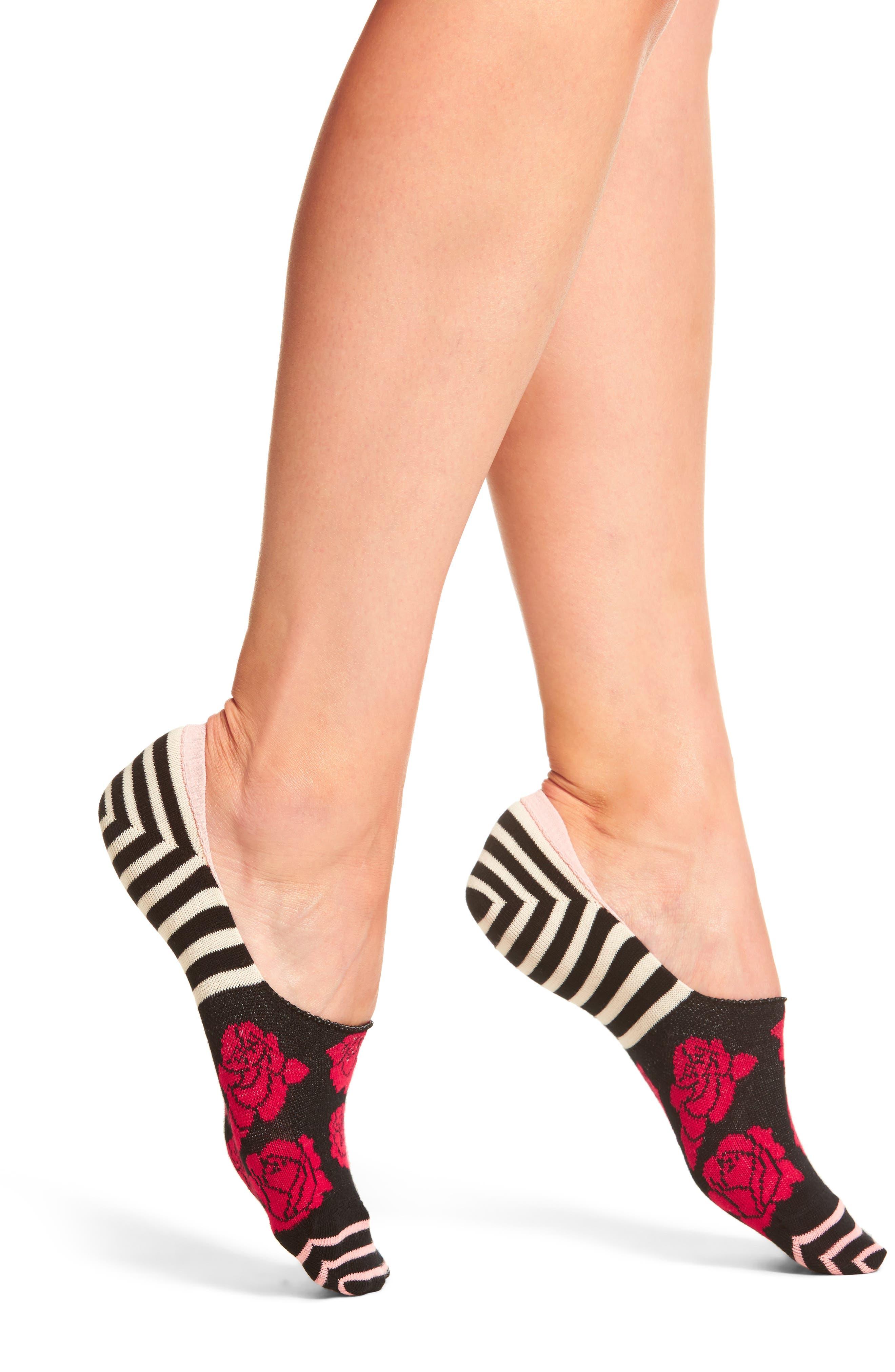 Rose Liner Socks,                             Main thumbnail 1, color,                             005